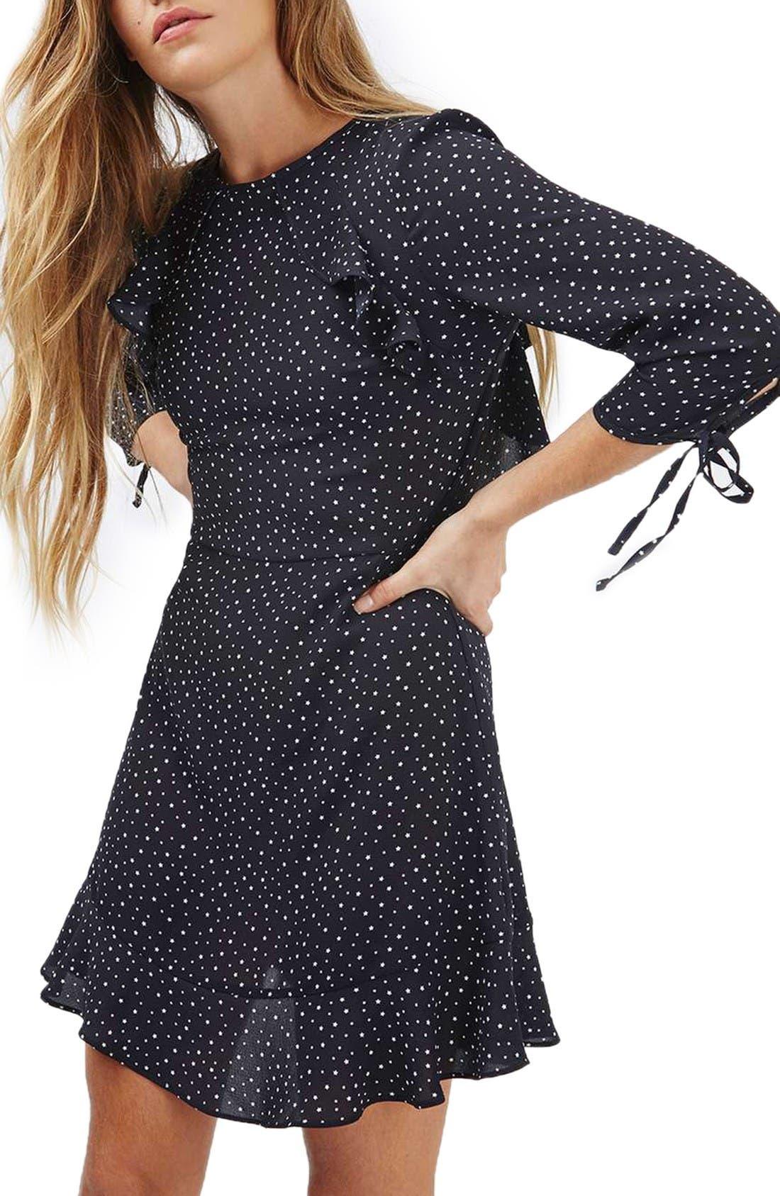 Alternate Image 1 Selected - Topshop Star Ruffle Dress