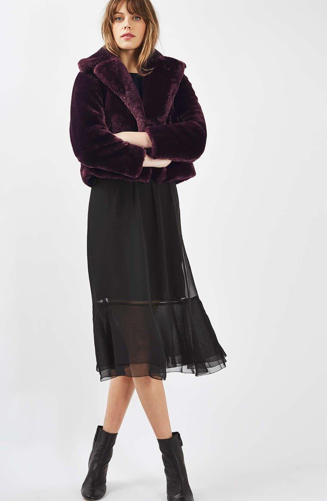 Alternate Image 5  - Topshop Crop Faux Fur Coat