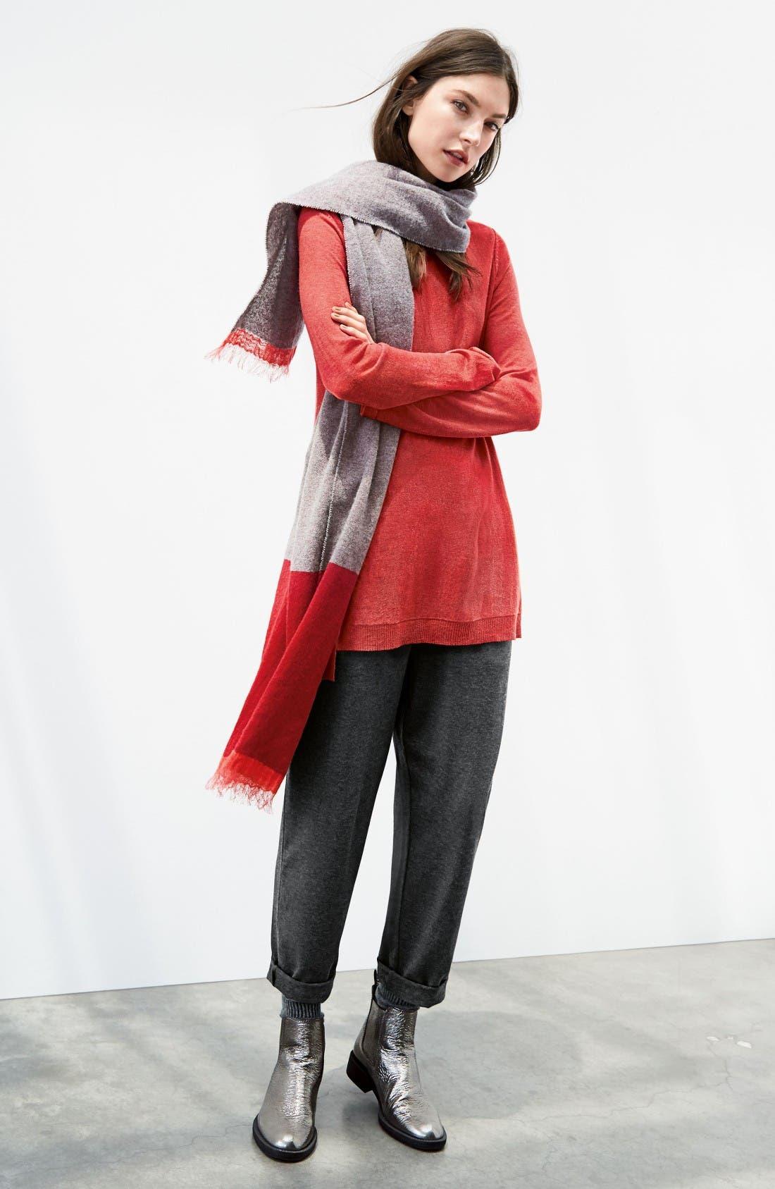 Alternate Image 6  - Eileen Fisher Scoop Neck Sweater (Regular & Petite)