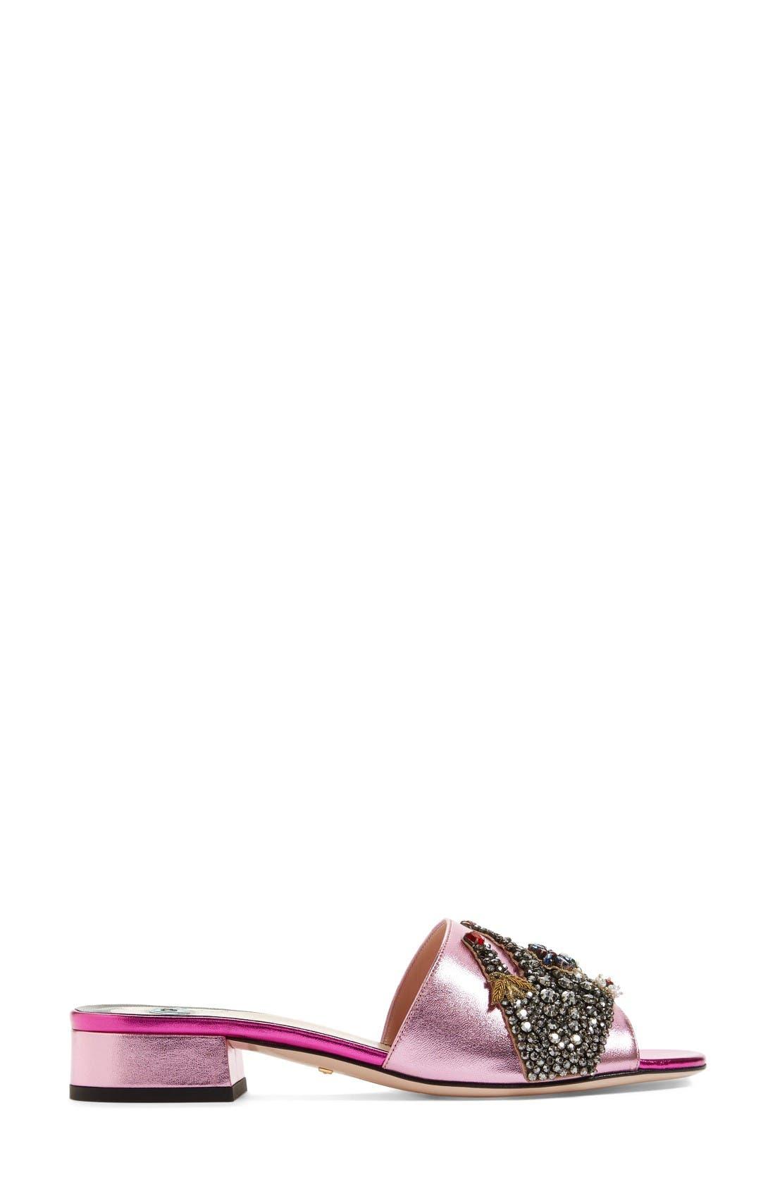 Alternate Image 4  - Gucci Wangy Embellished Slide Sandal
