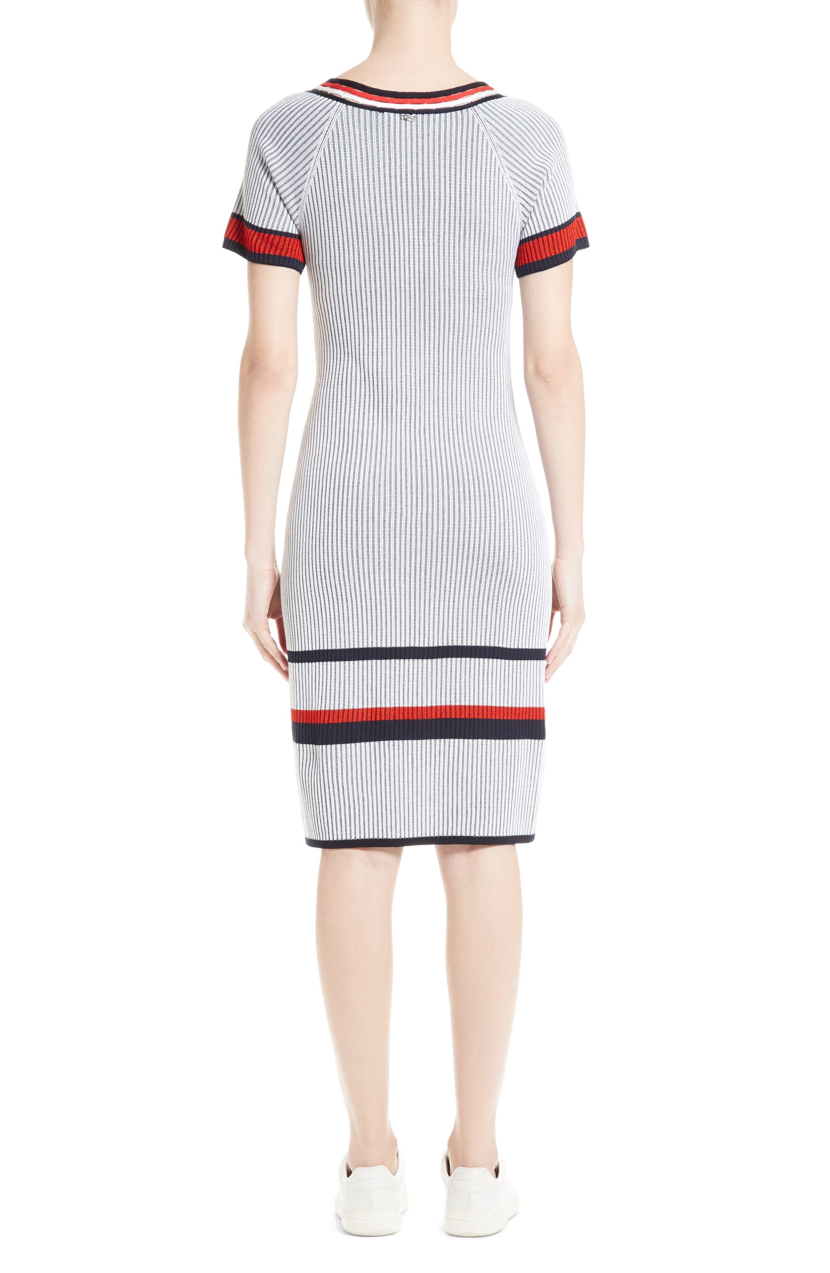 Alternate Image 2  - St. John Collection Two-Tone Rib Knit Dress