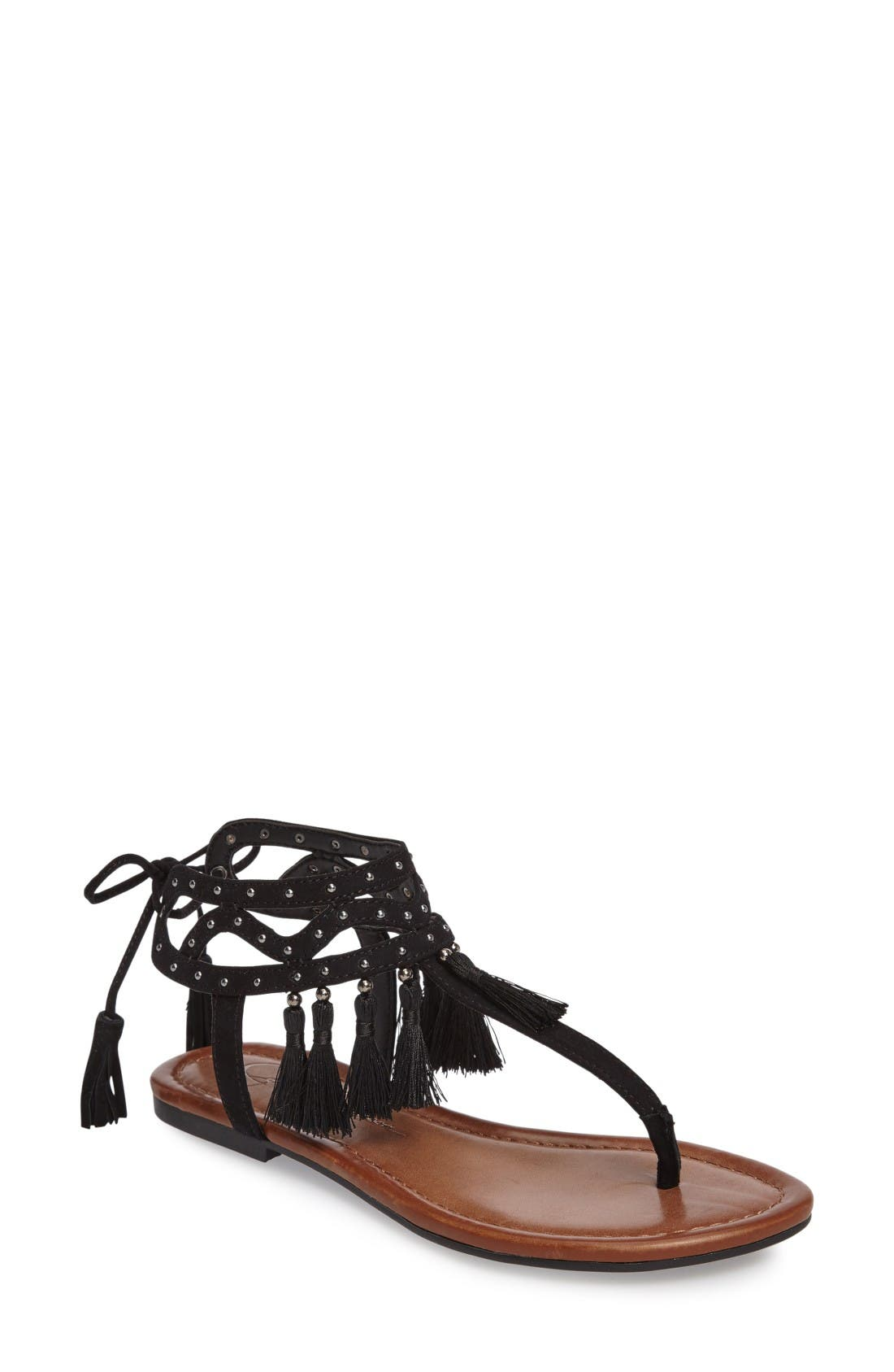 Main Image - Jessica Simpson Kamel Studded Tassel Sandal (Women)