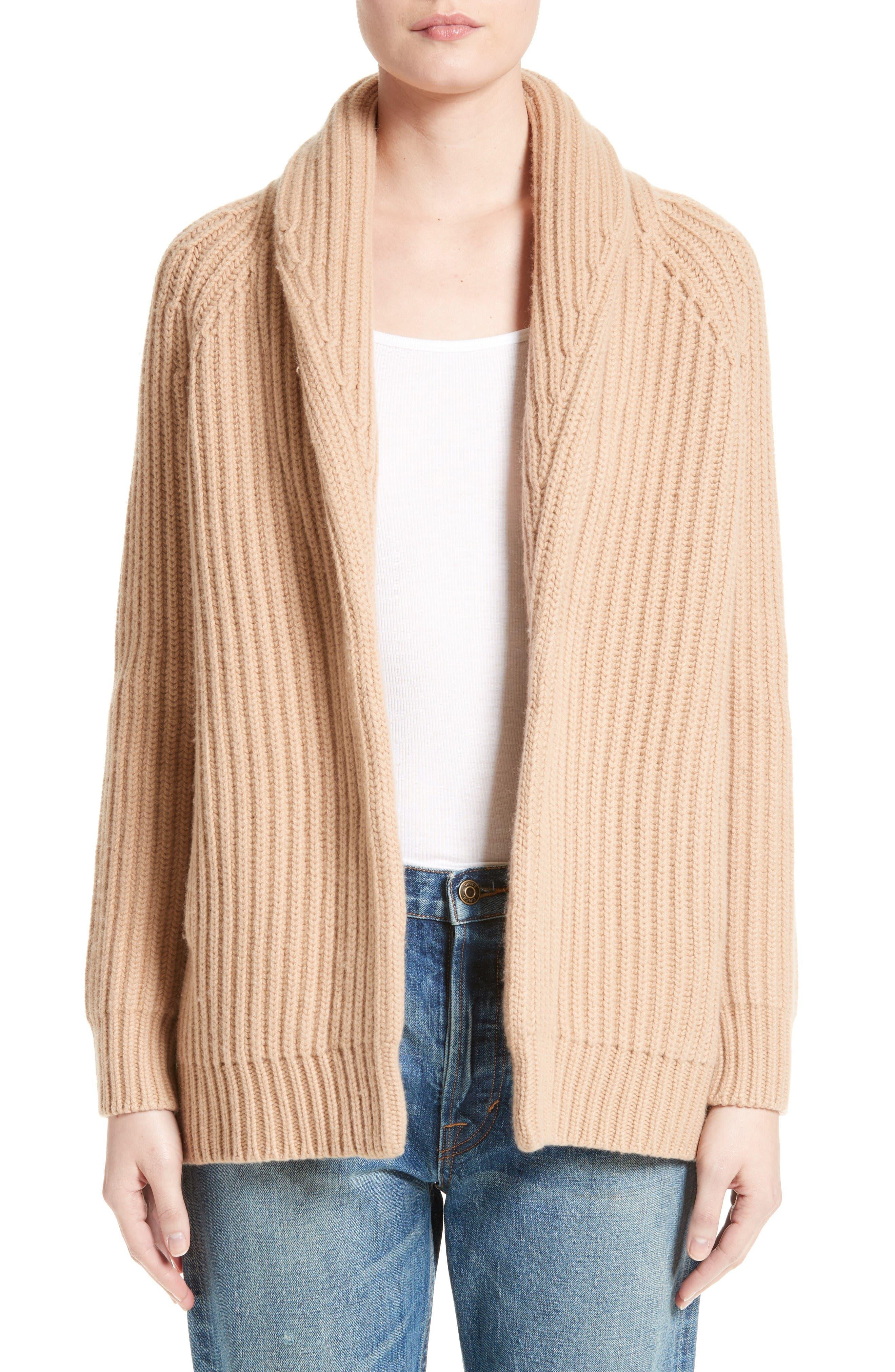 Alternate Image 1 Selected - Vince Wool & Cashmere Knit Car Coat