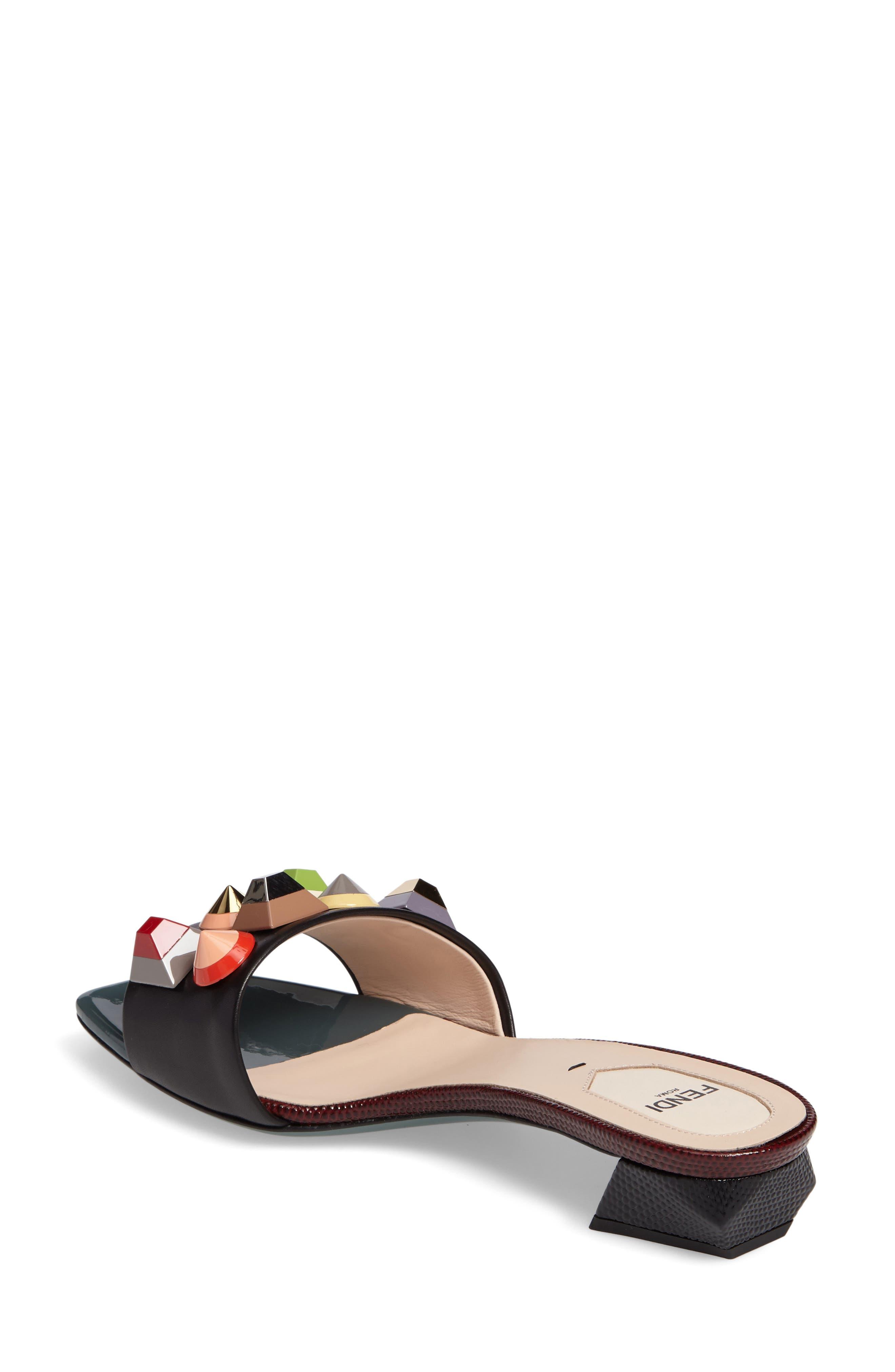 Alternate Image 2  - Fendi Stud Rainbow Slide Sandal (Women)