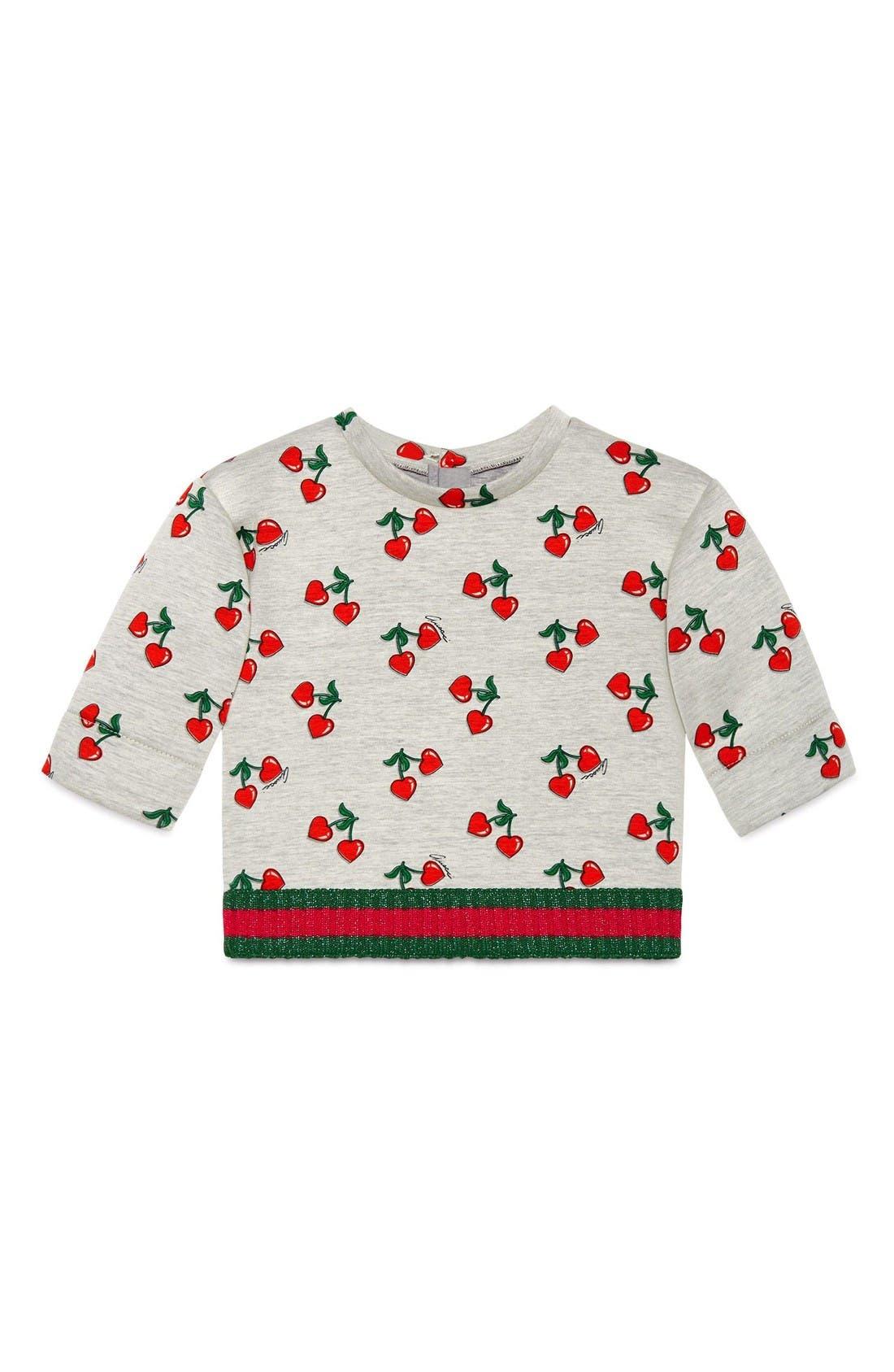 Gucci Heart Cherry Sweatshirt (Baby Girls)