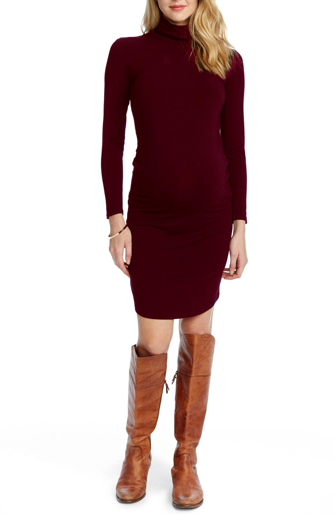 ROSIE POPE Chelsea Maternity Turtleneck Dress