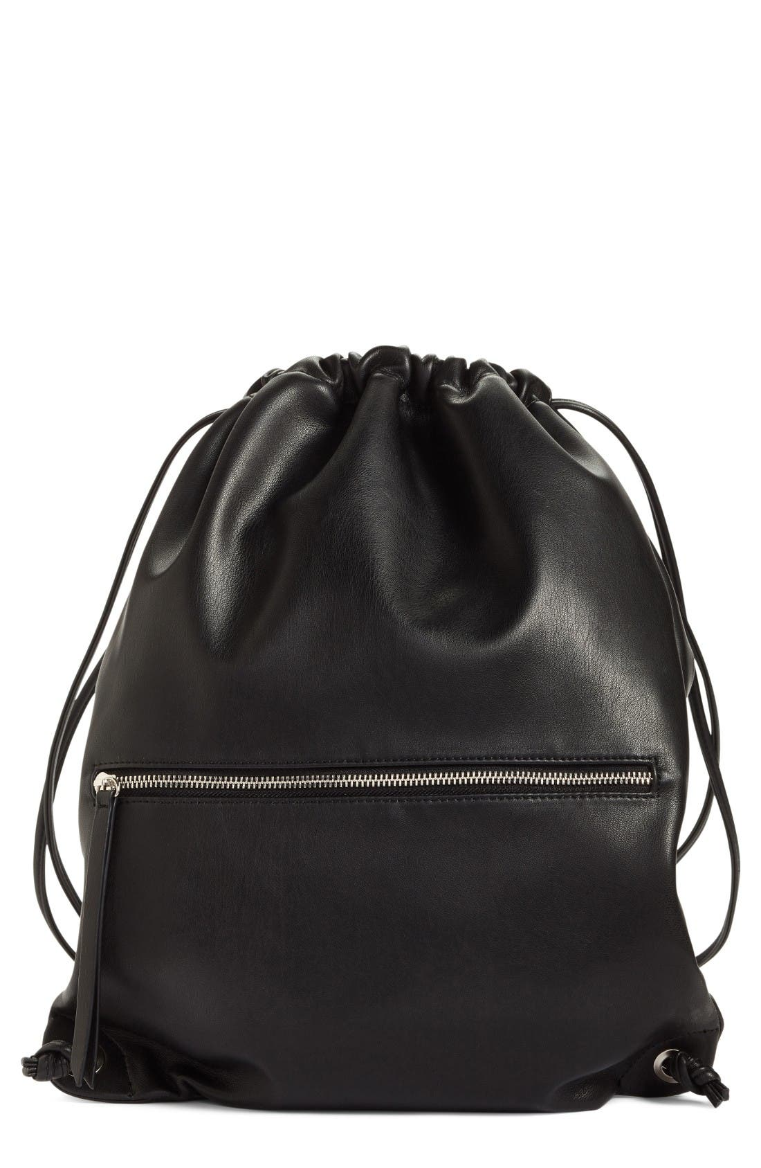 Alternate Image 1 Selected - Phase 3 Faux Leather Sling Backpack