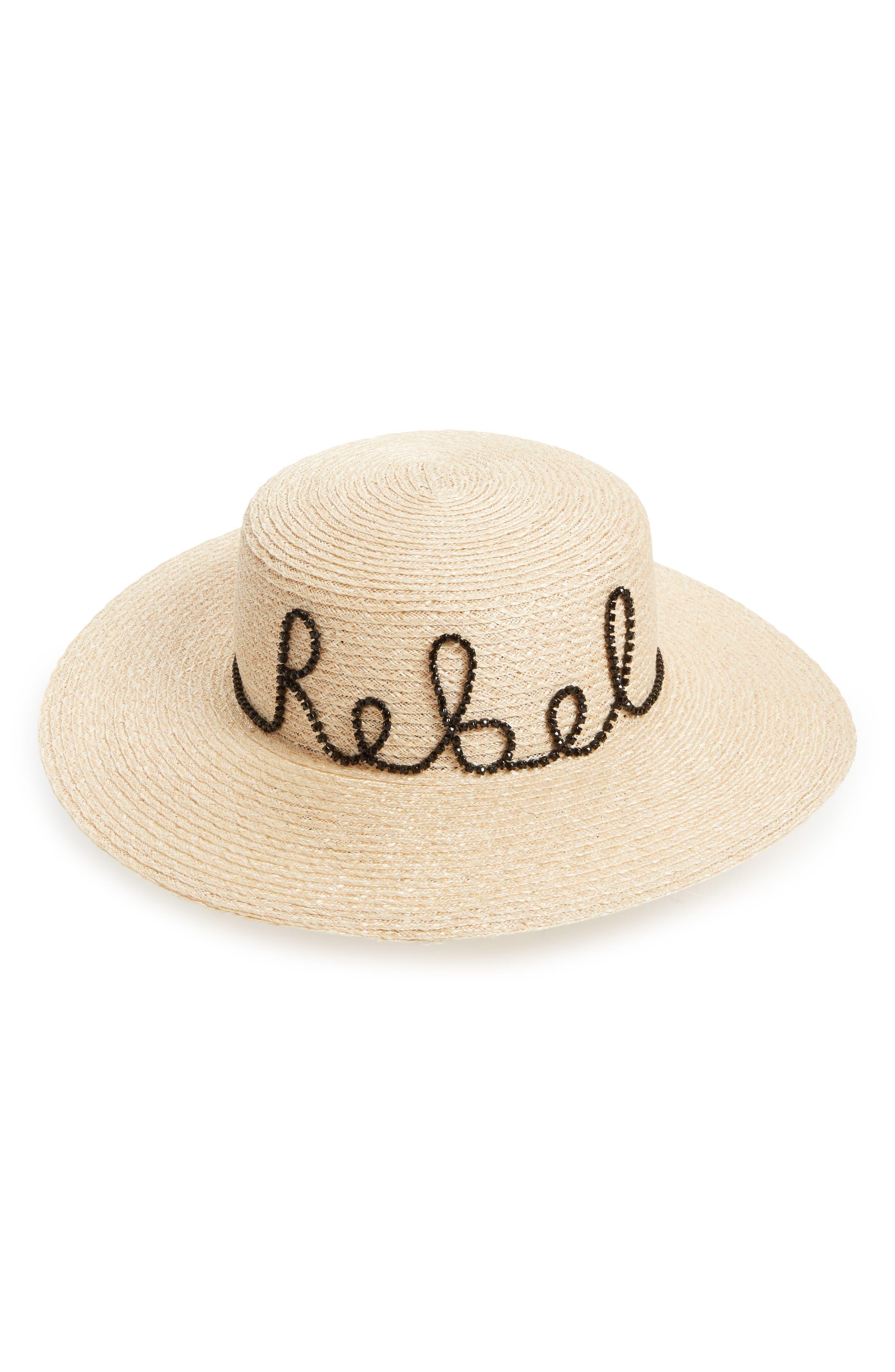 Main Image - Eugenia Kim Colette Rebel Boater Hat