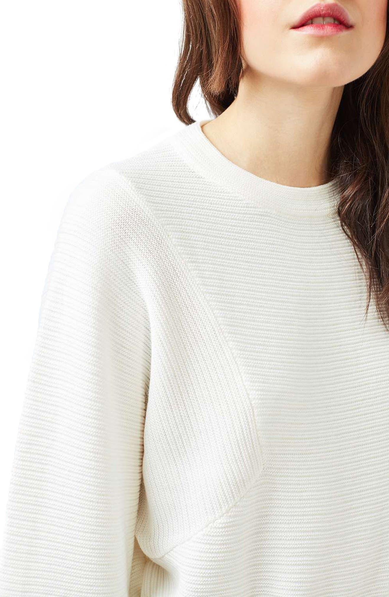 Alternate Image 5  - Topshop Diamond Kimono Sleeve Sweater
