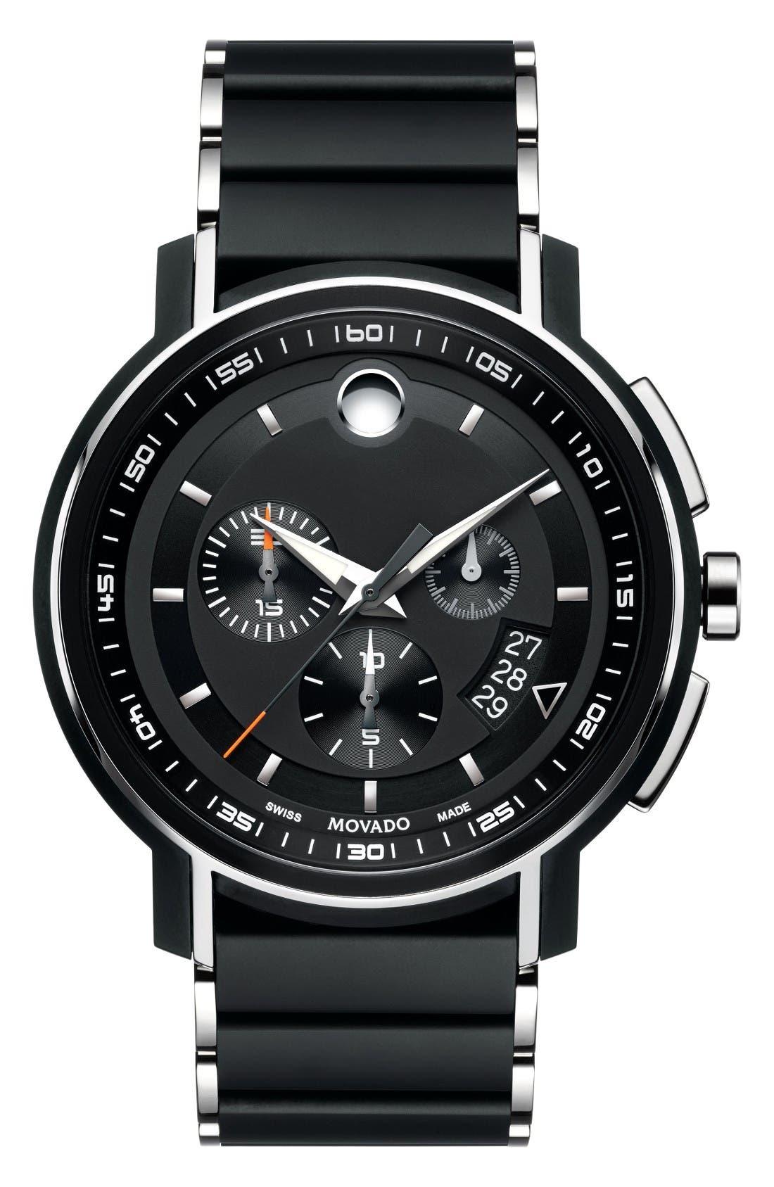 Movado Strato Chronographic Bracelet Watch, 44mm