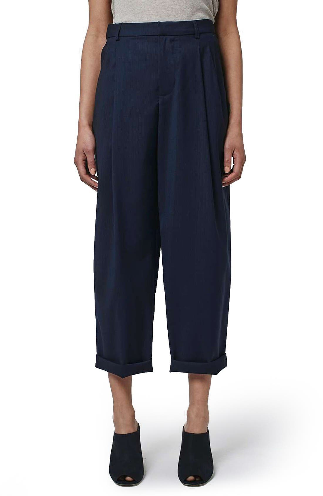 Alternate Image 1 Selected - Topshop Boutique Wool Trousers