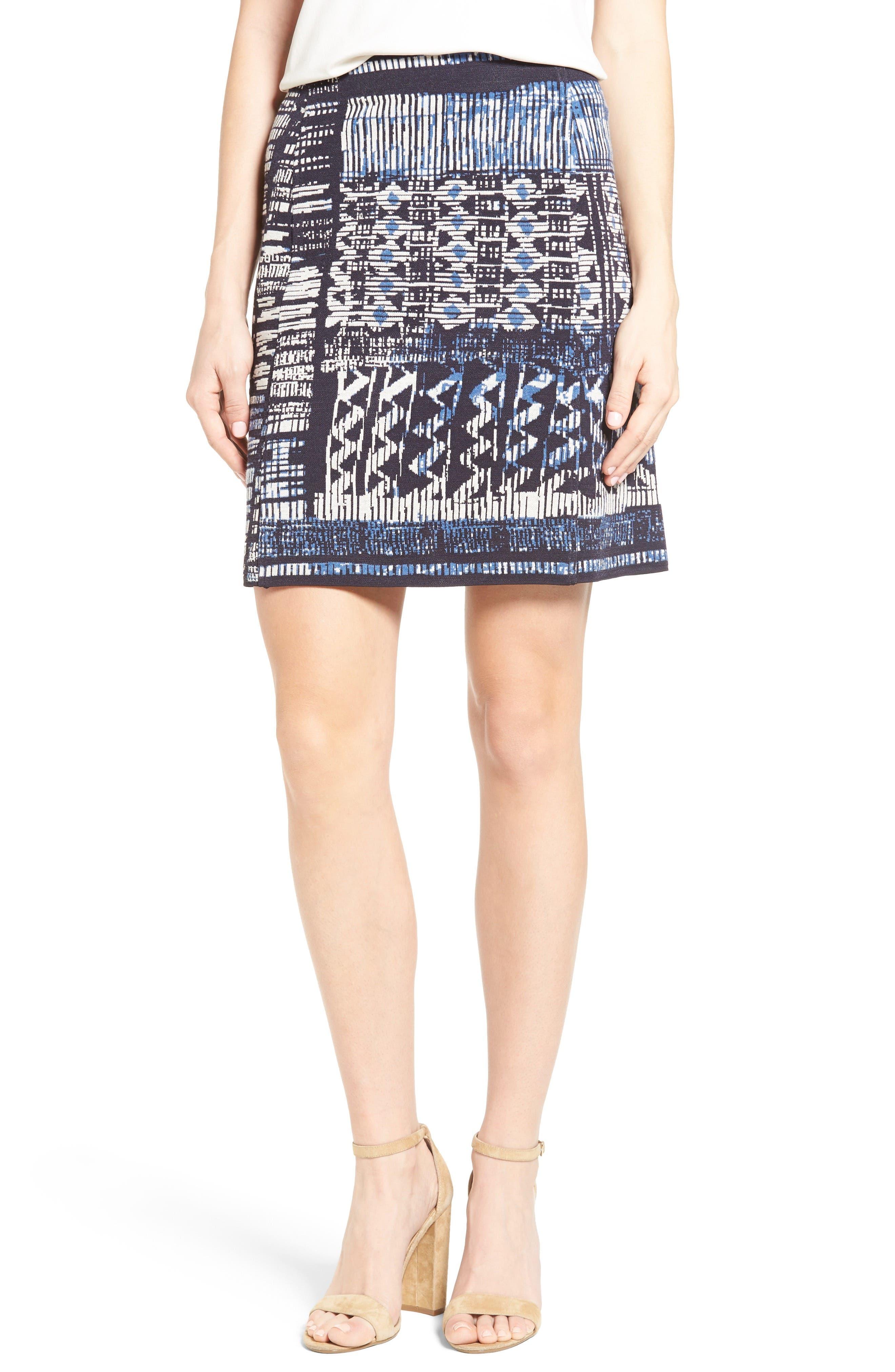 Alternate Image 1 Selected - NIC+ZOE Blue Streak Skirt
