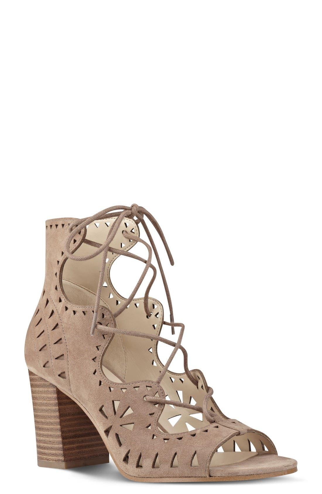 Nine West Gweniah Ghillie Lace Gladiator Sandal (Women)