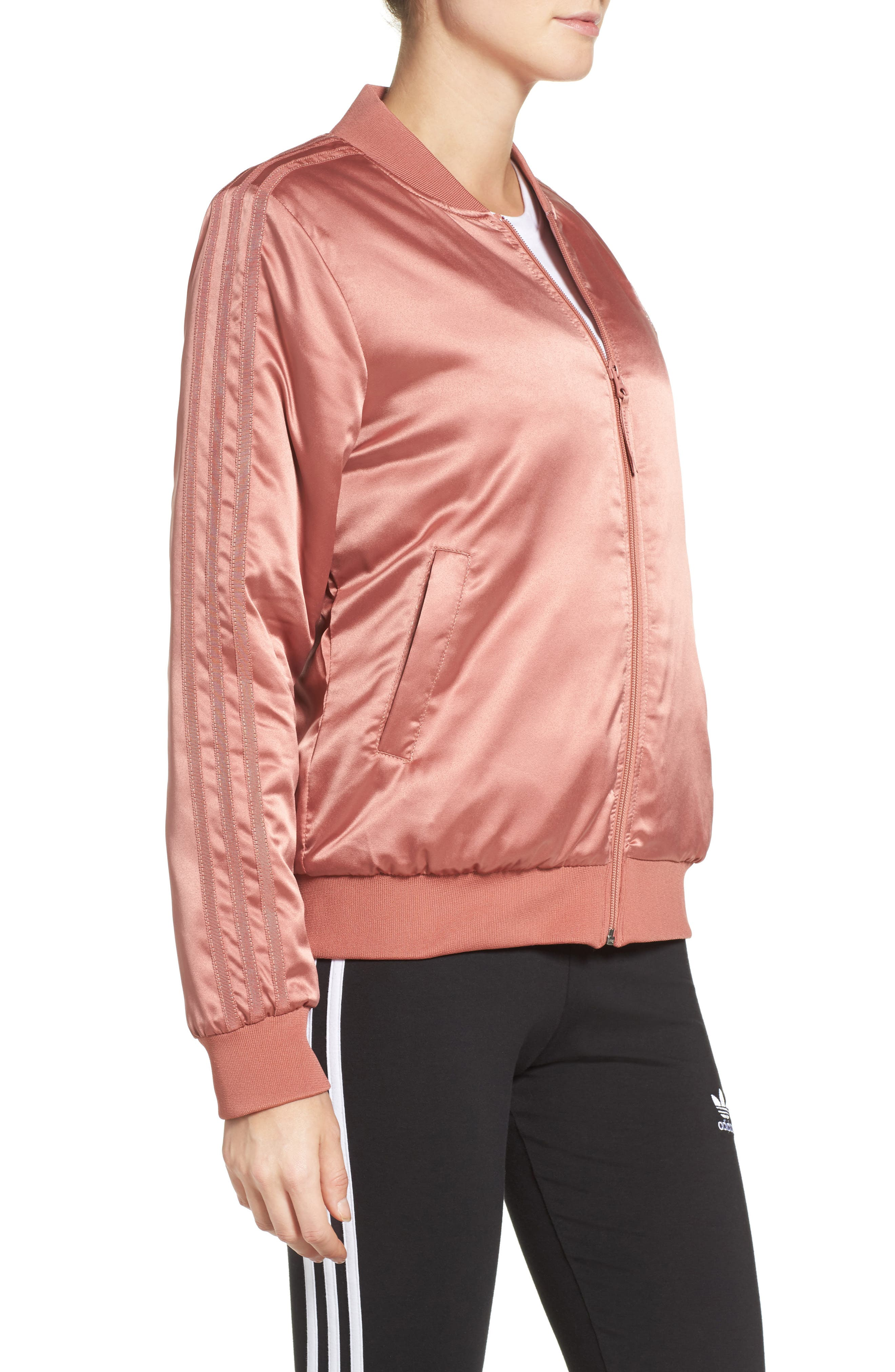 Alternate Image 3  - adidas Originals Trefoil Satin Jacket