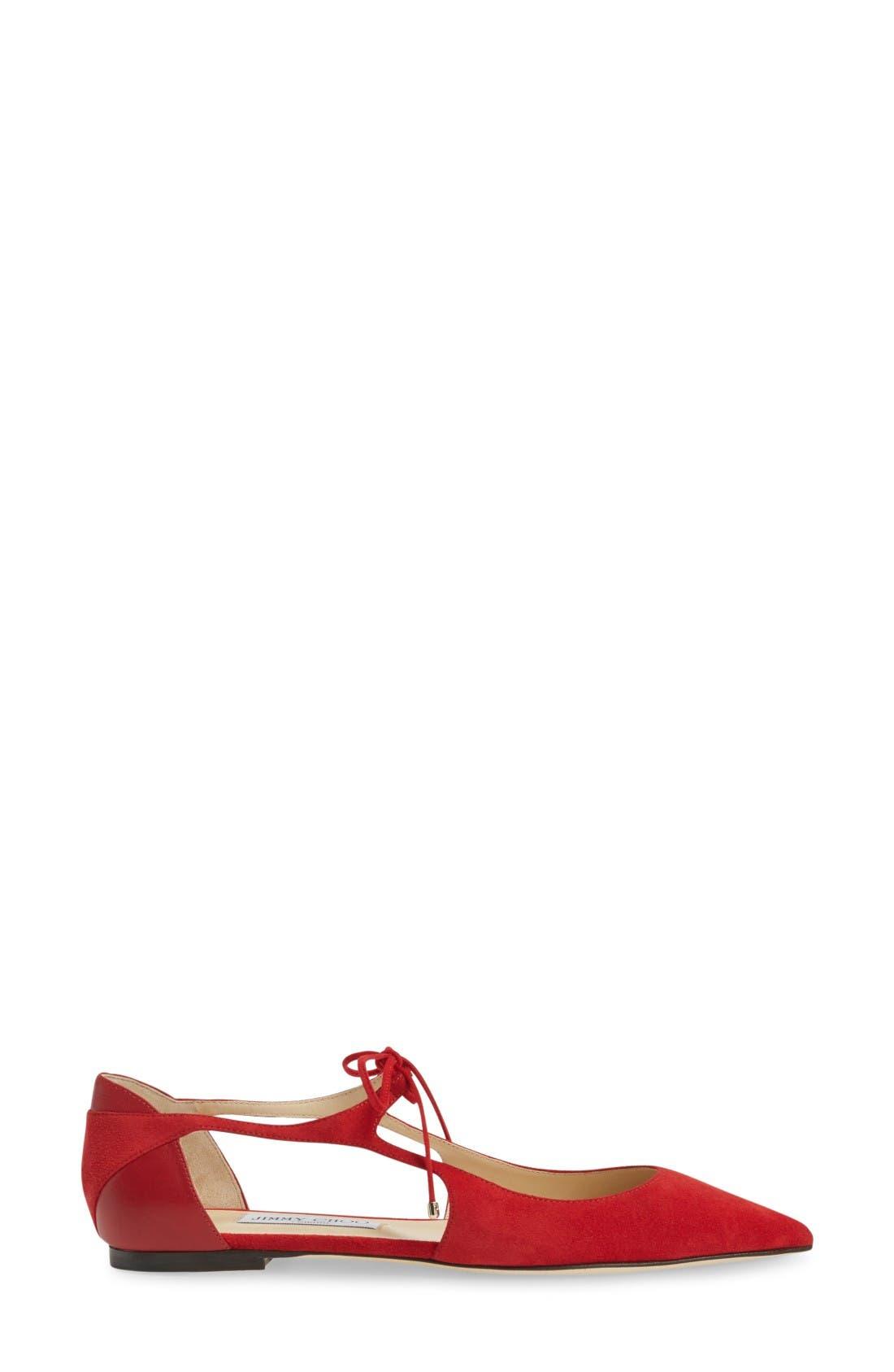 Alternate Image 4  - Jimmy Choo Vanessa Lace-Up Flat (Women)