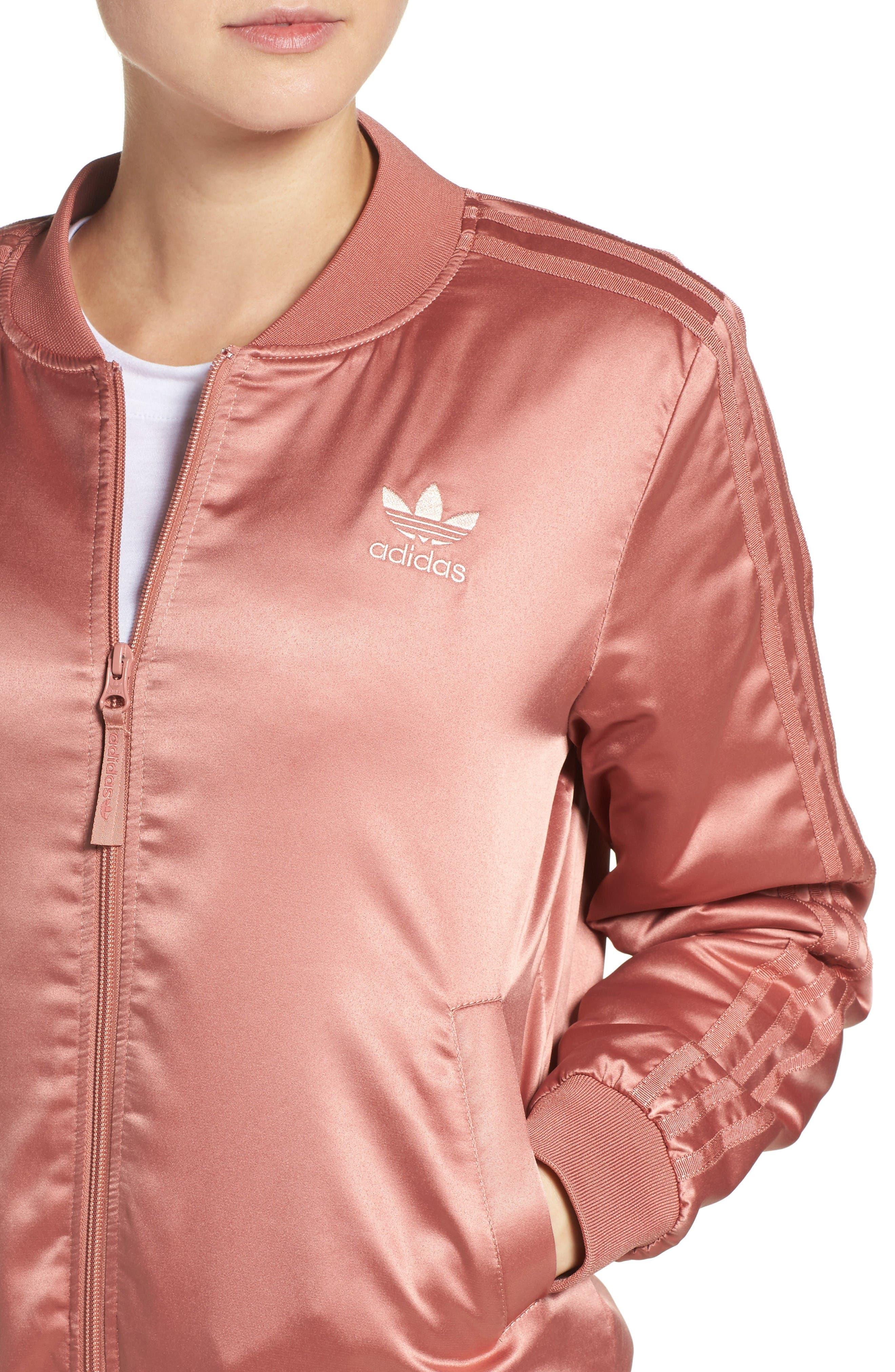 Alternate Image 4  - adidas Originals Trefoil Satin Jacket