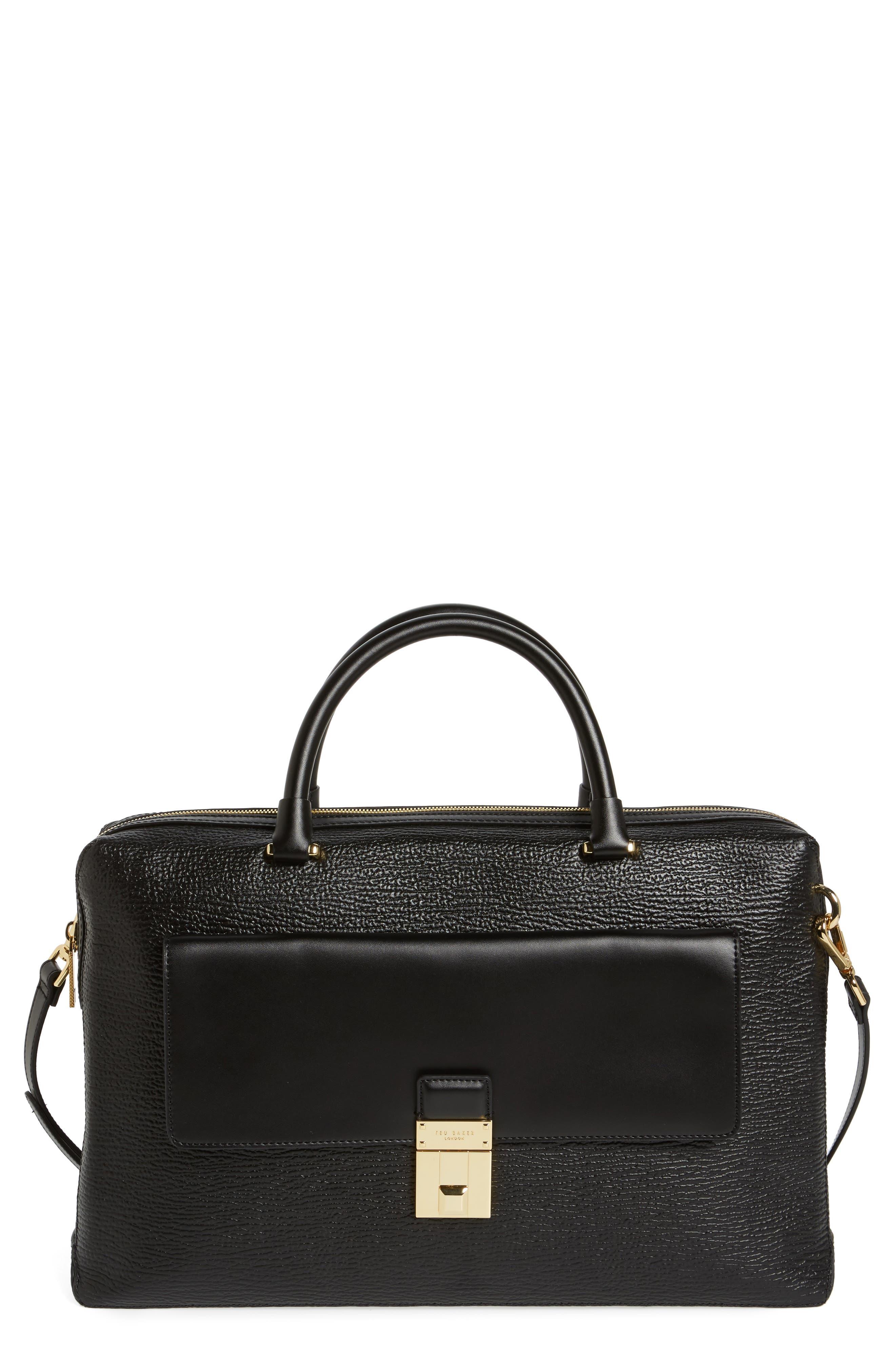 Ted Baker London Luggage Lock Leather Satchel