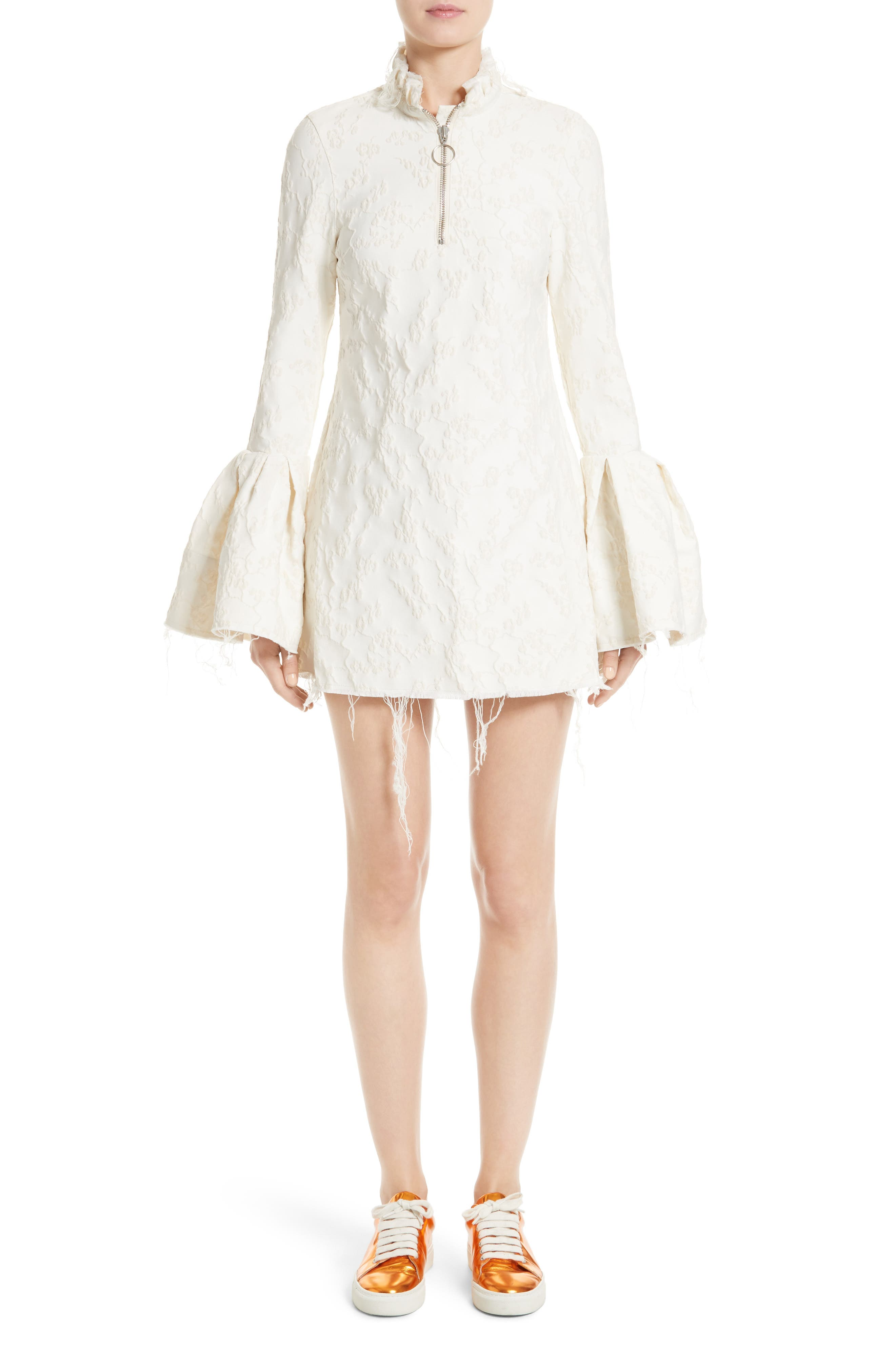 Main Image - Marques'Almeida Bell Sleeve Minidress