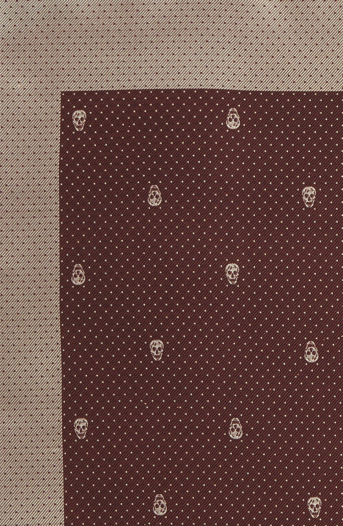 Alternate Image 3  - Alexander McQueen Skull Dot Silk Pocket Square