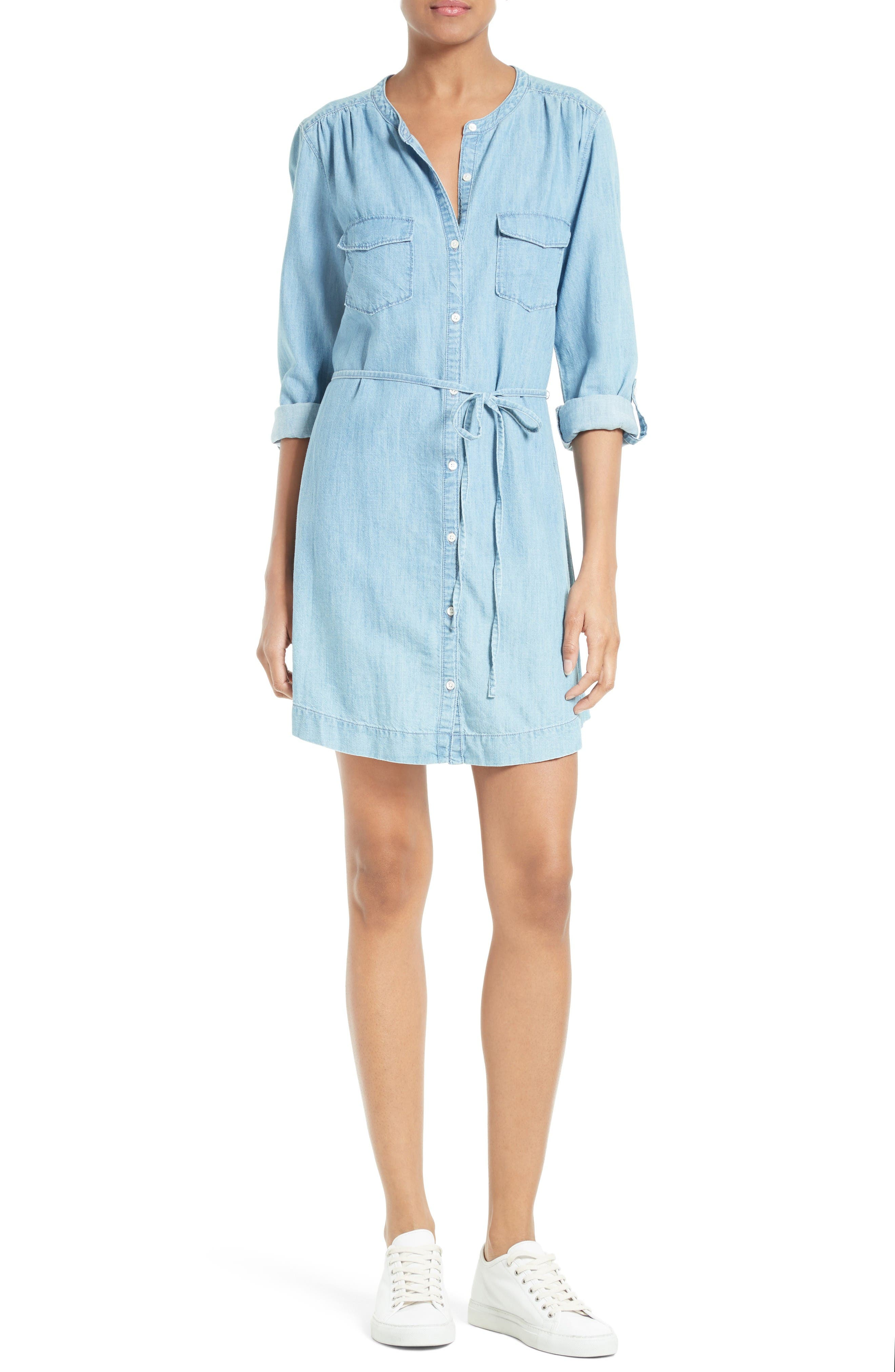 Alternate Image 1 Selected - Soft Joie Milli Chambray Shirtdress