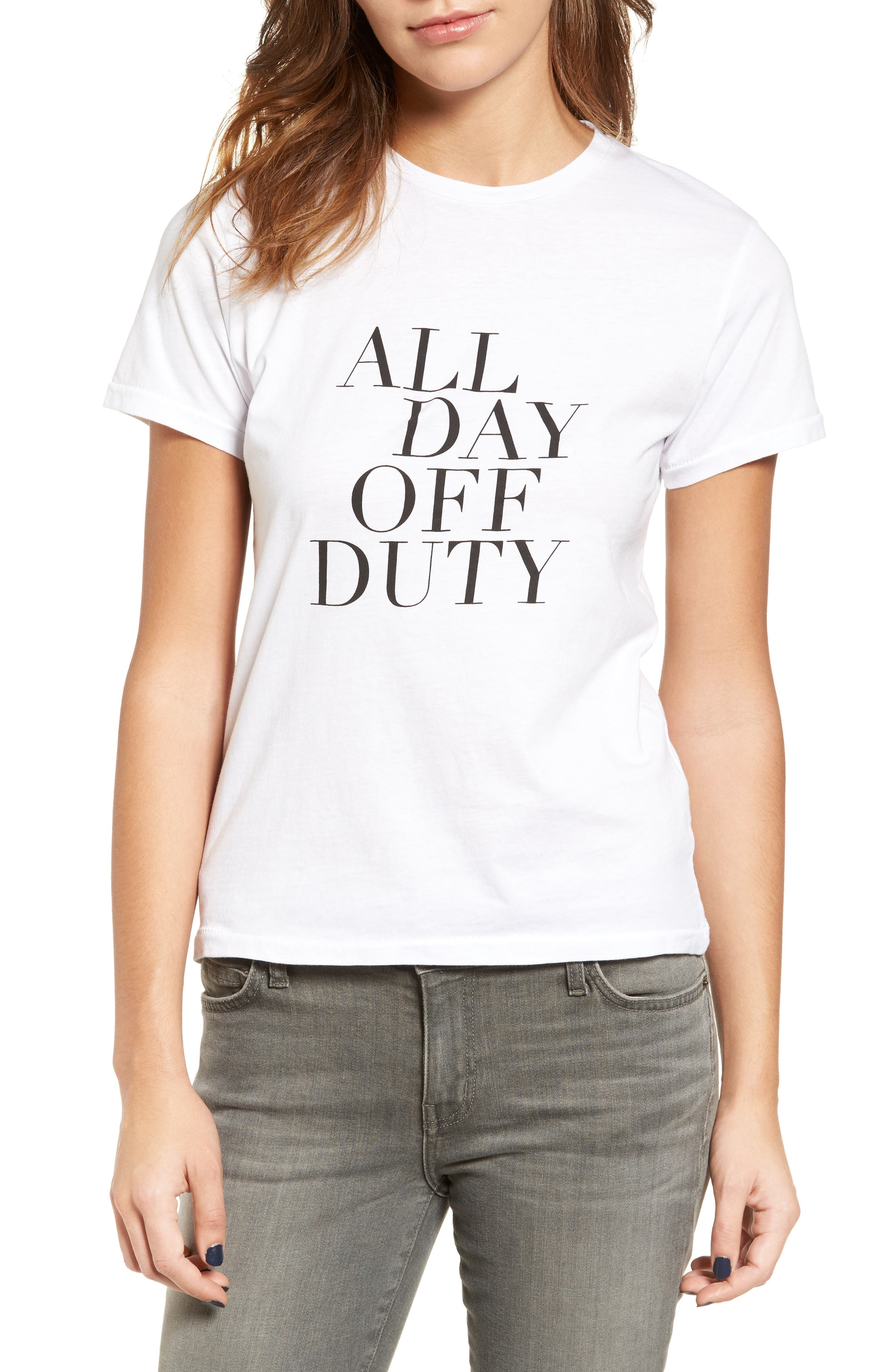 Alternate Image 1 Selected - Sincerely Jules All Day Off Duty Cotton Tee