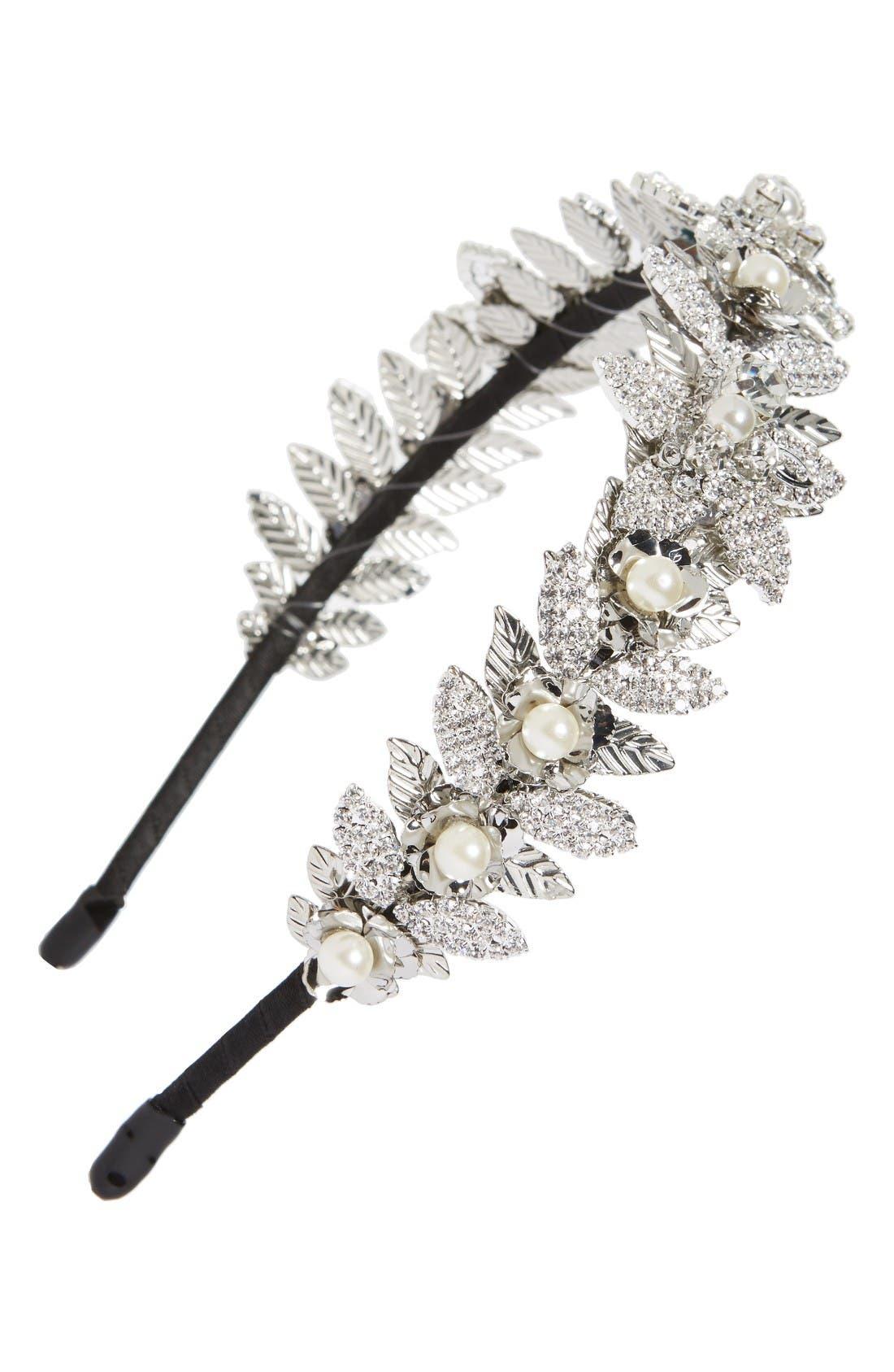 Main Image - Tasha Crystal Flower Headband