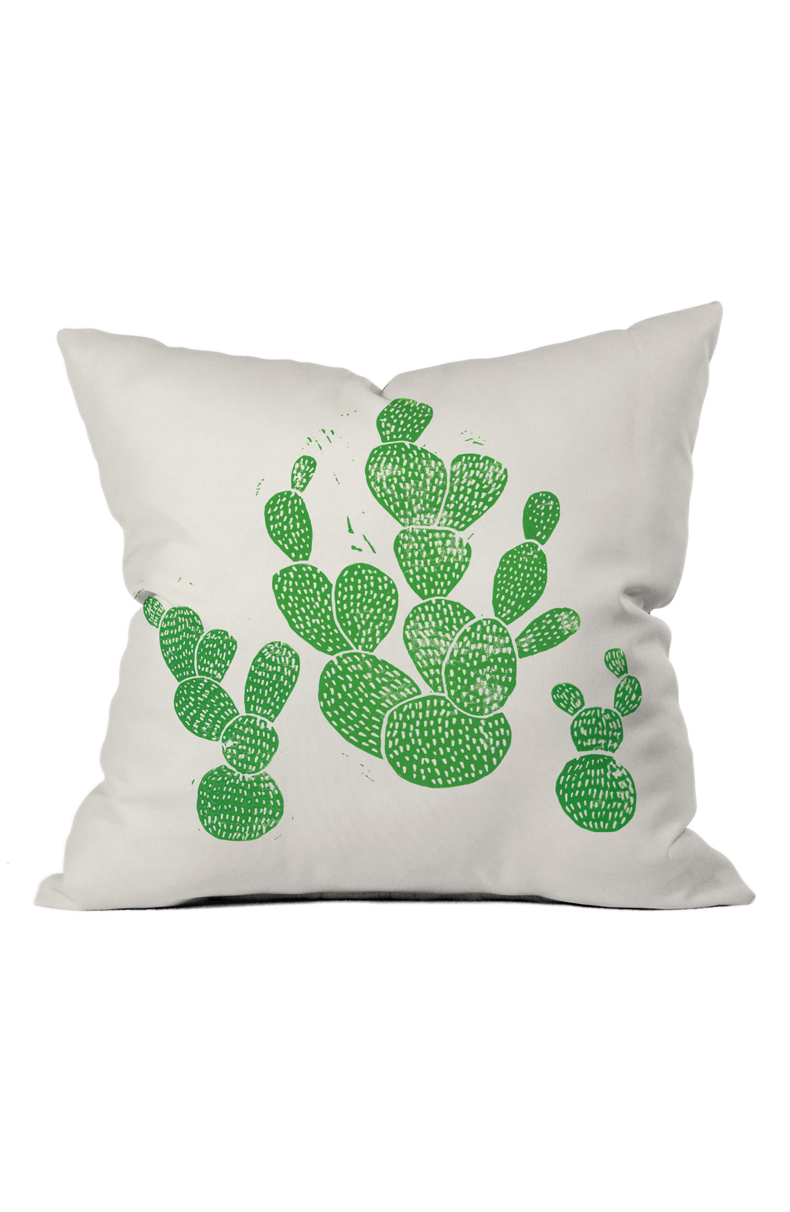 Alternate Image 1 Selected - DENY Designs Green Cacti Pillow
