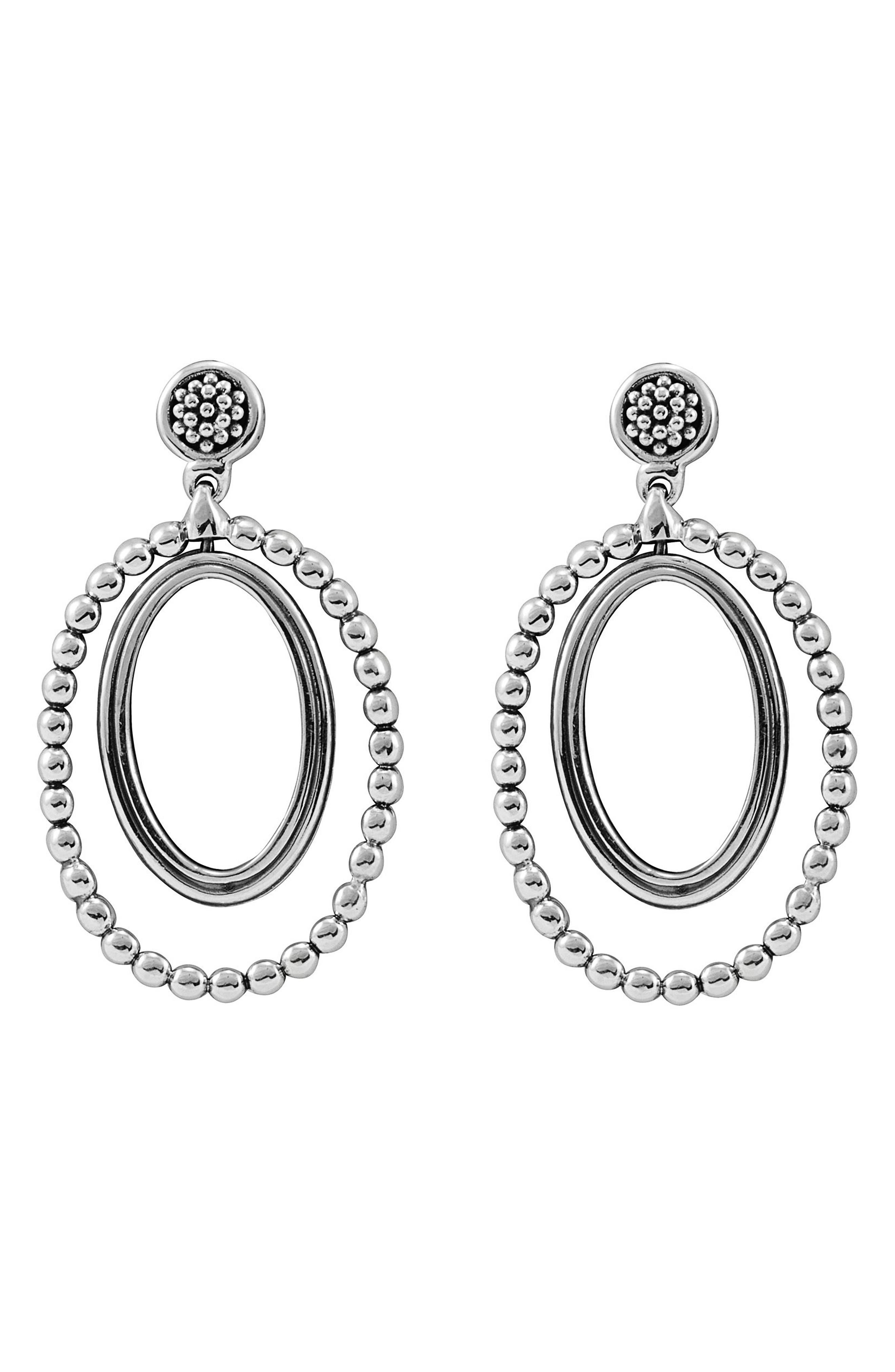 Alternate Image 1 Selected - LAGOS Caviar Oval Twist Earrings