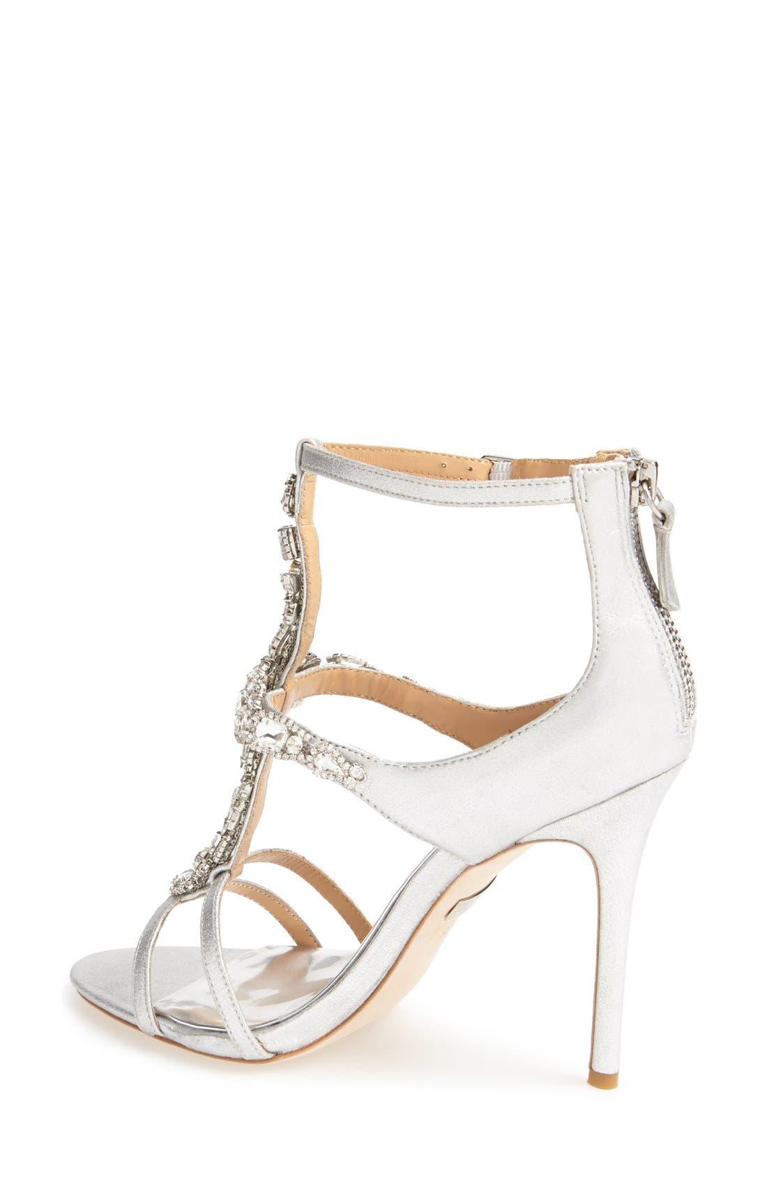 Alternate Image 3  - Badgley Mischka 'Giovanna II' Satin Ankle Strap Sandal (Women)