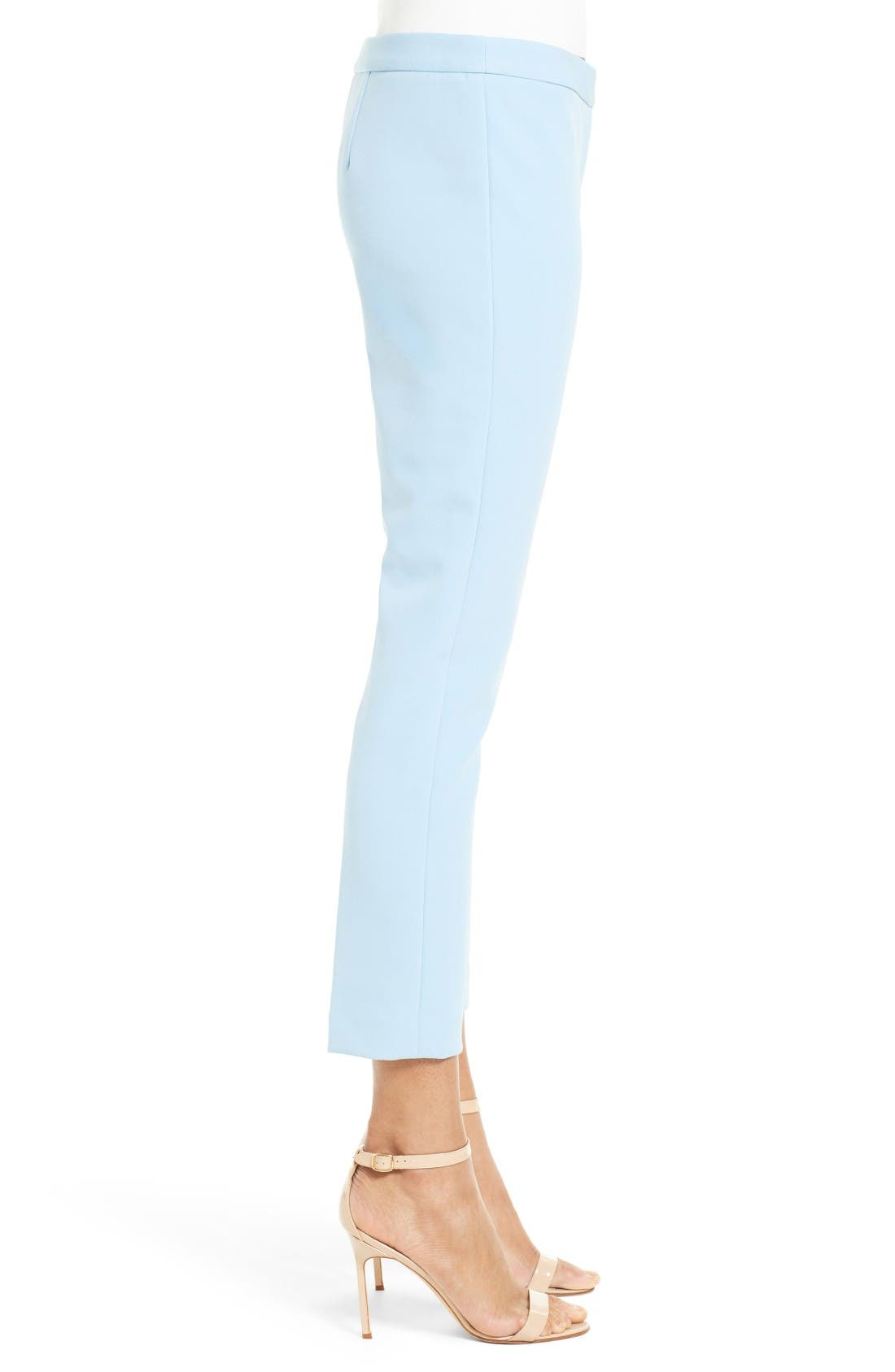 Alternate Image 4  - Milly Stretch Crepe Cigarette Pant