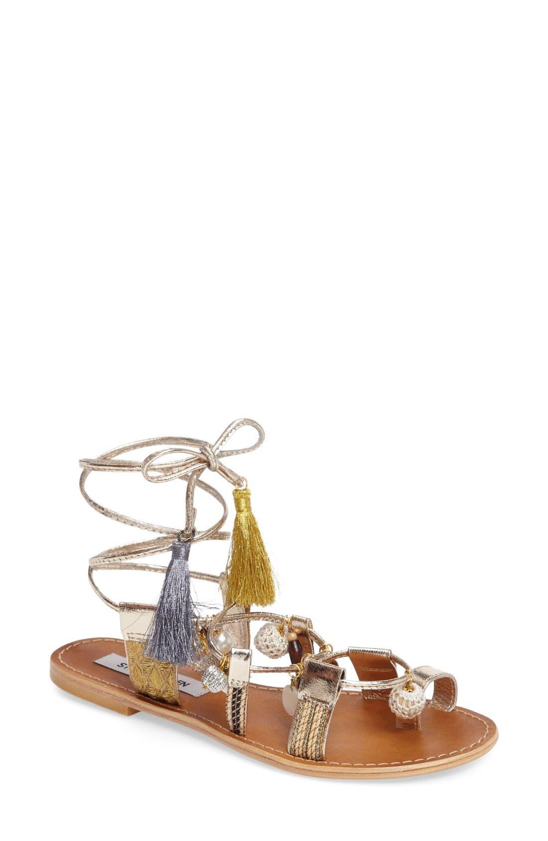 STEVE MADDEN Rambel Embellished Gladiator Sandal