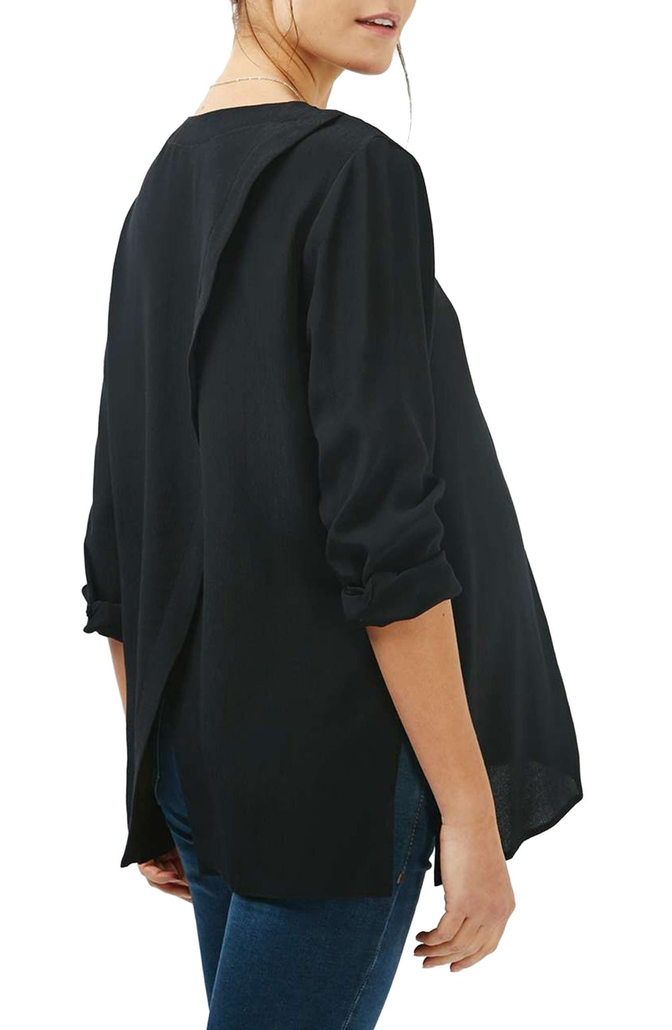 Alternate Image 3  - Topshop Slouchy Pocket Maternity Blouse
