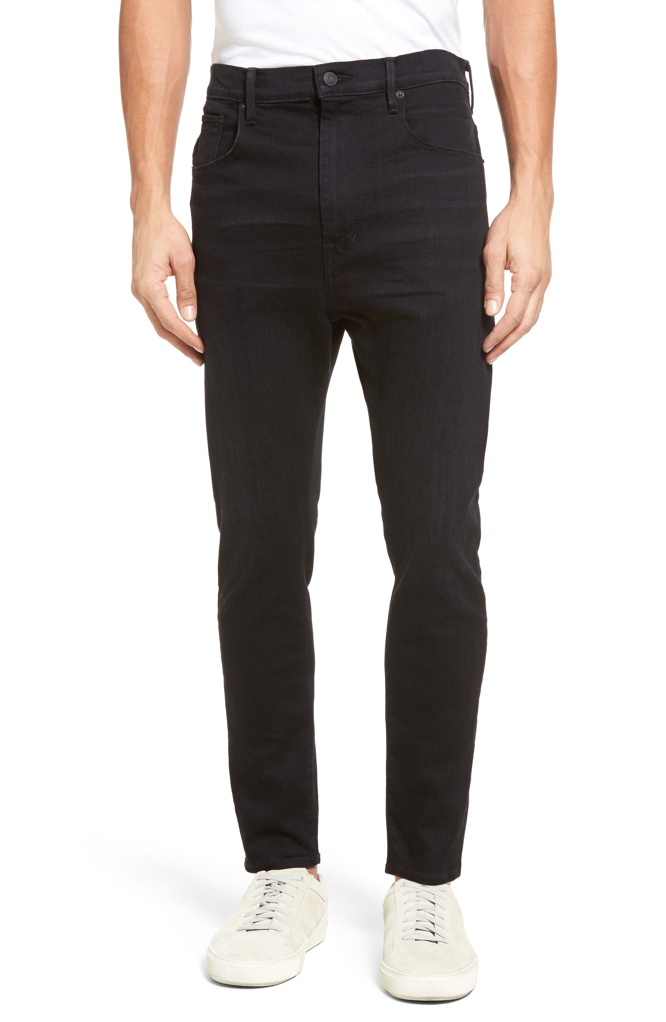 Vince Drop Crotch Skinny Slouchy Leg Jeans