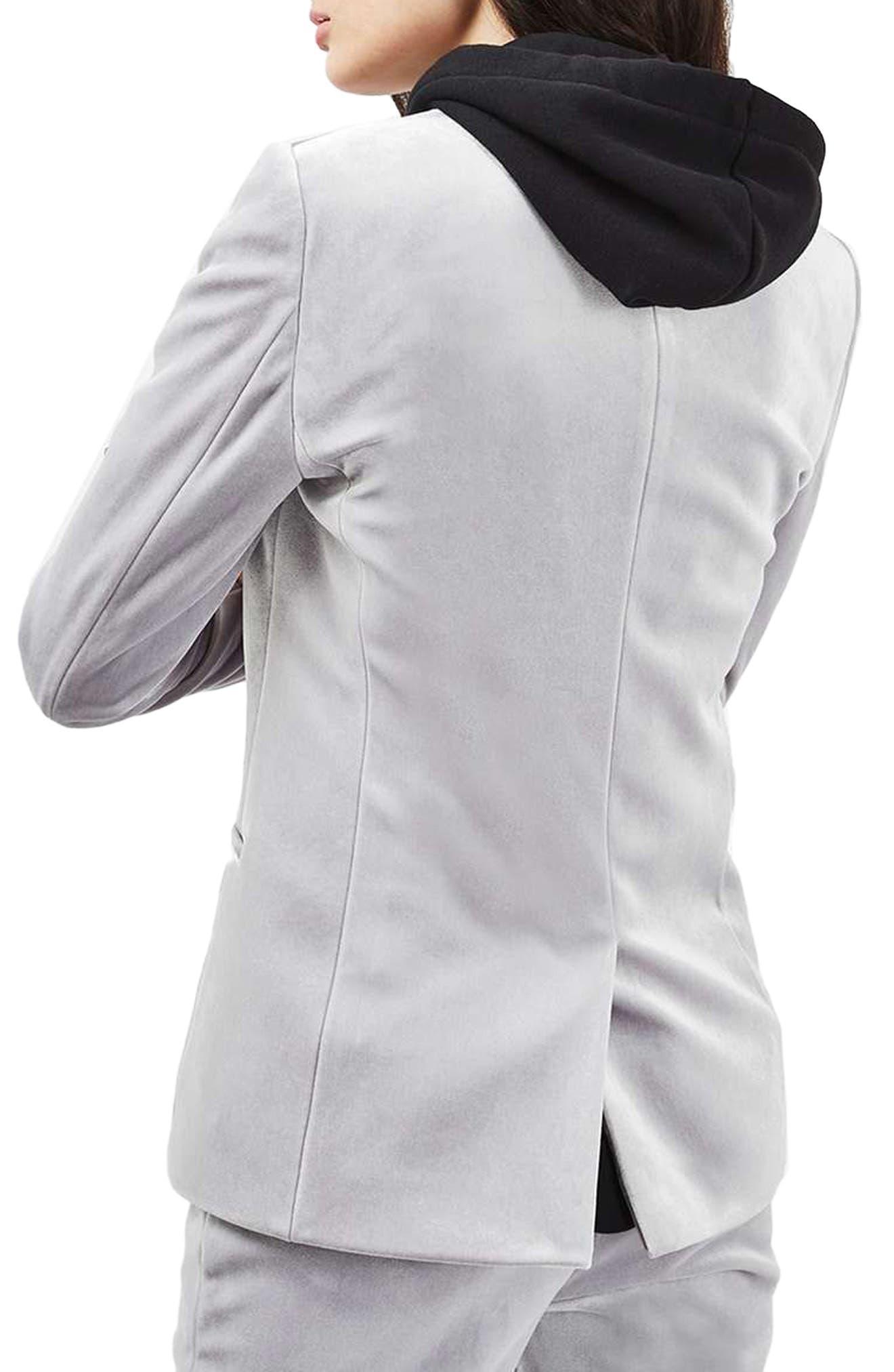 Alternate Image 3  - Topshop Velvet Suit Jacket