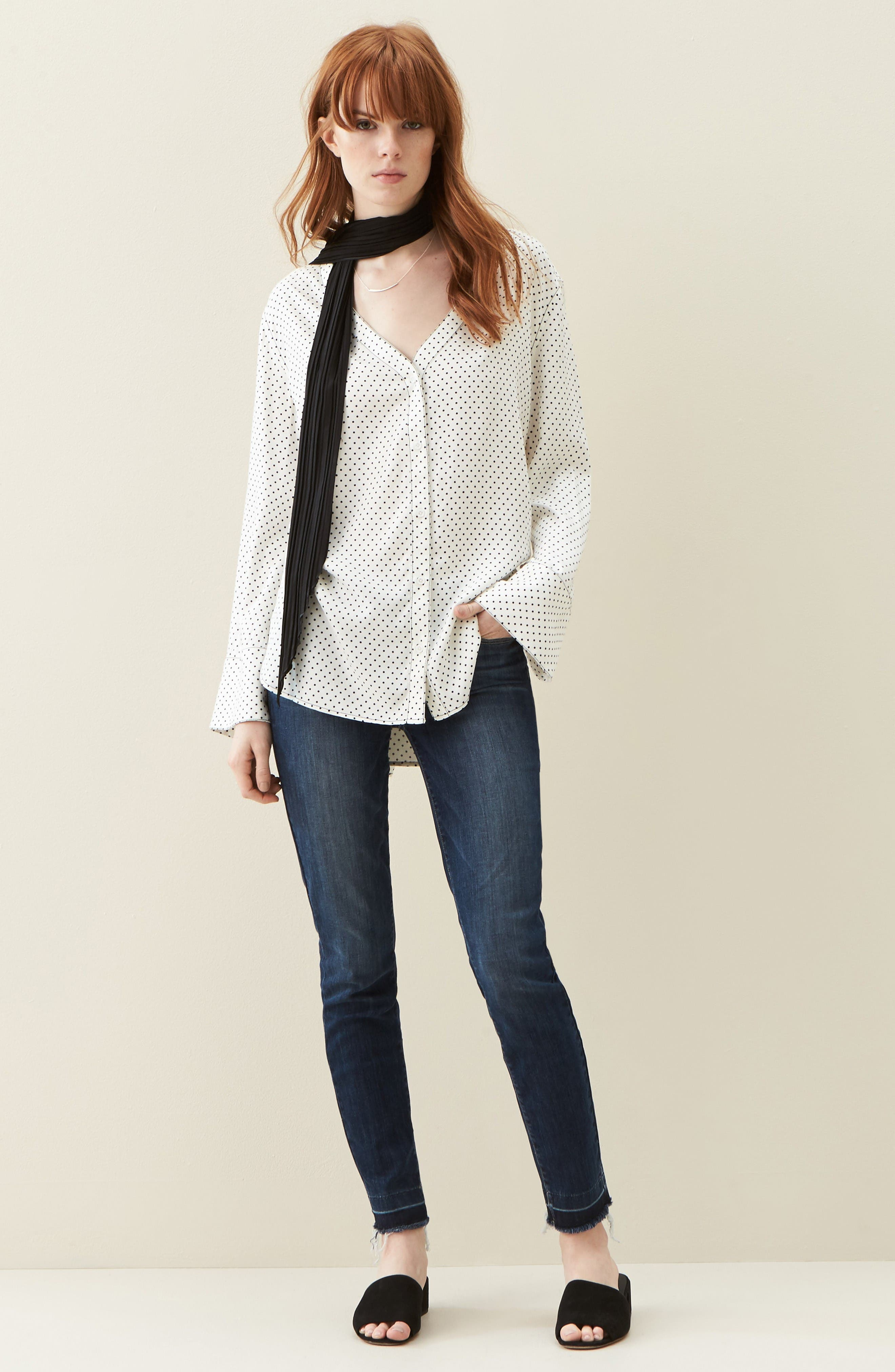 Treasure&Bond Shirt & PAIGE Jeans Outfit with Accessories