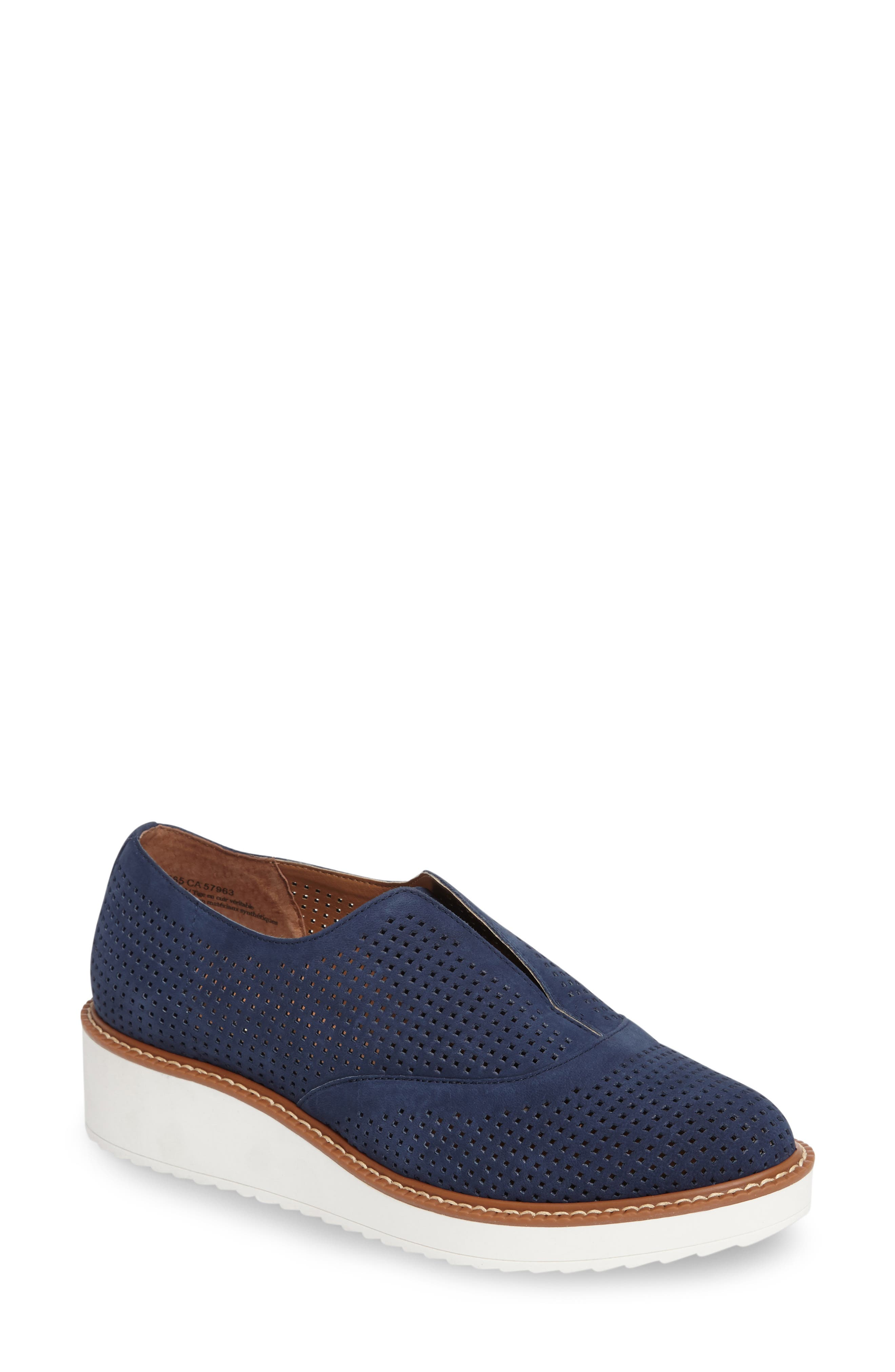 HALOGEN® Leigh Perforated Platform Wedge Sneaker