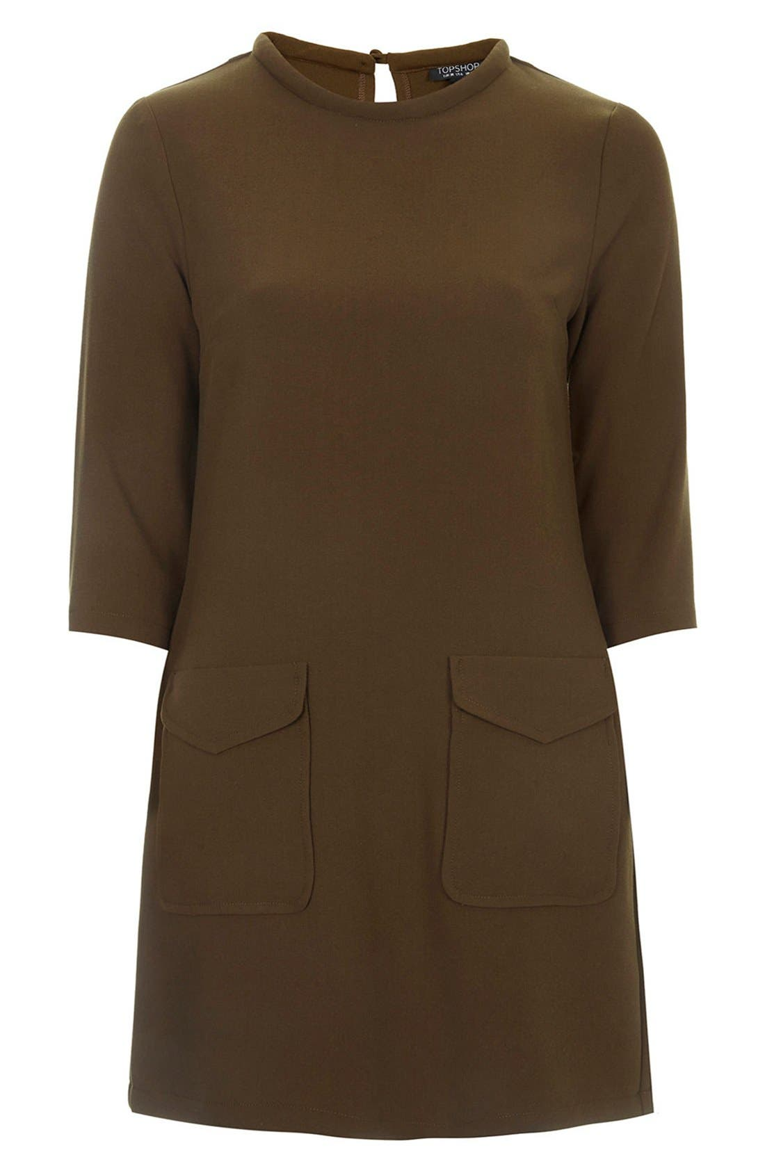 Alternate Image 3  - Topshop Utility Pocket Tunic Dress