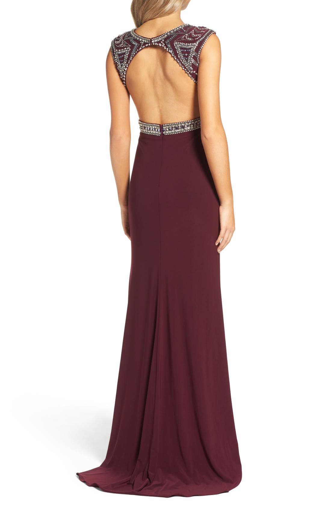 Alternate Image 2  - Mac Duggal Open Back Beaded Gown
