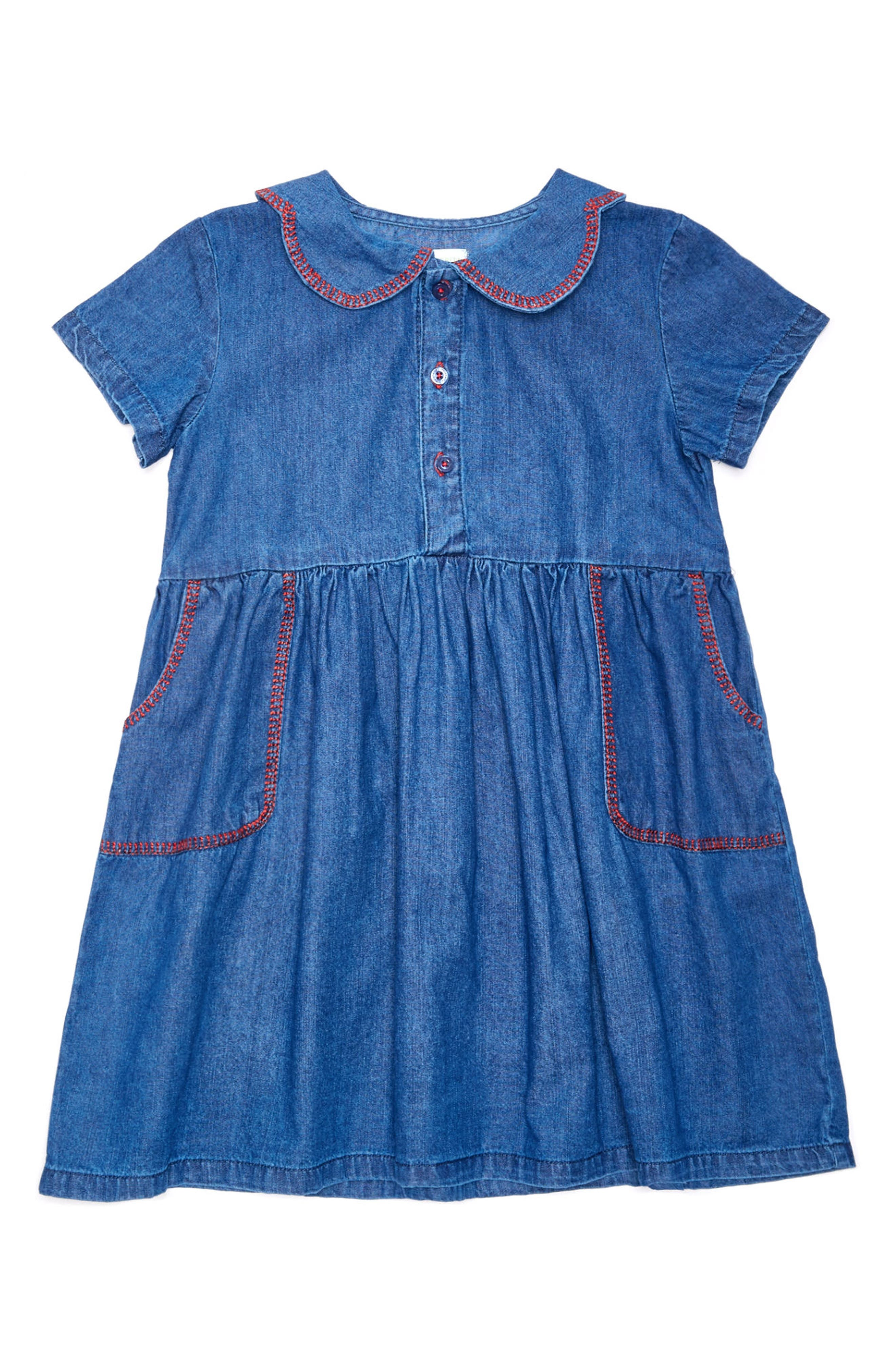 MARGHERITA Embroidered Chambray Dress