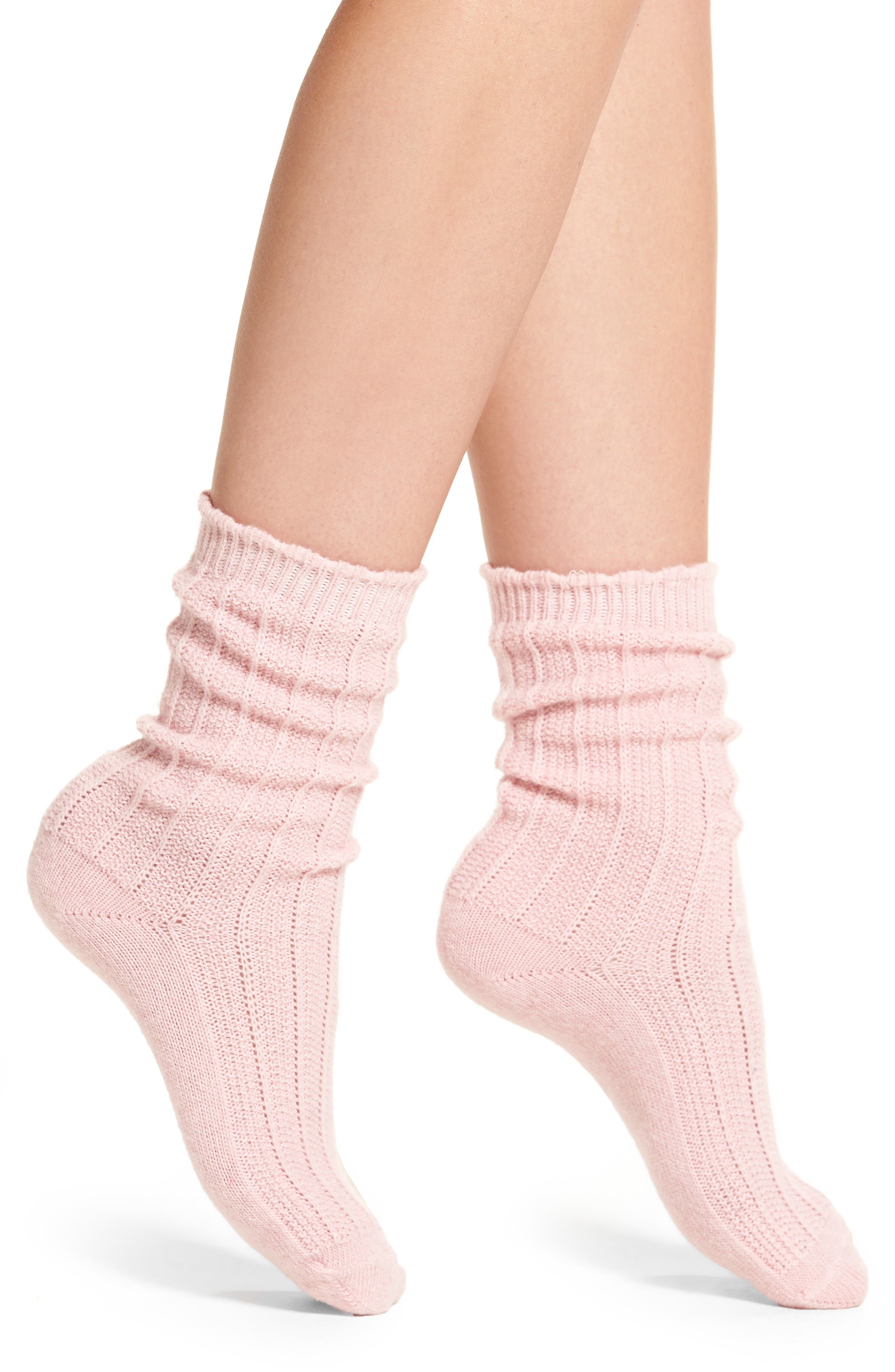 Alternate Image 1 Selected - Nordstrom Piqué Socks