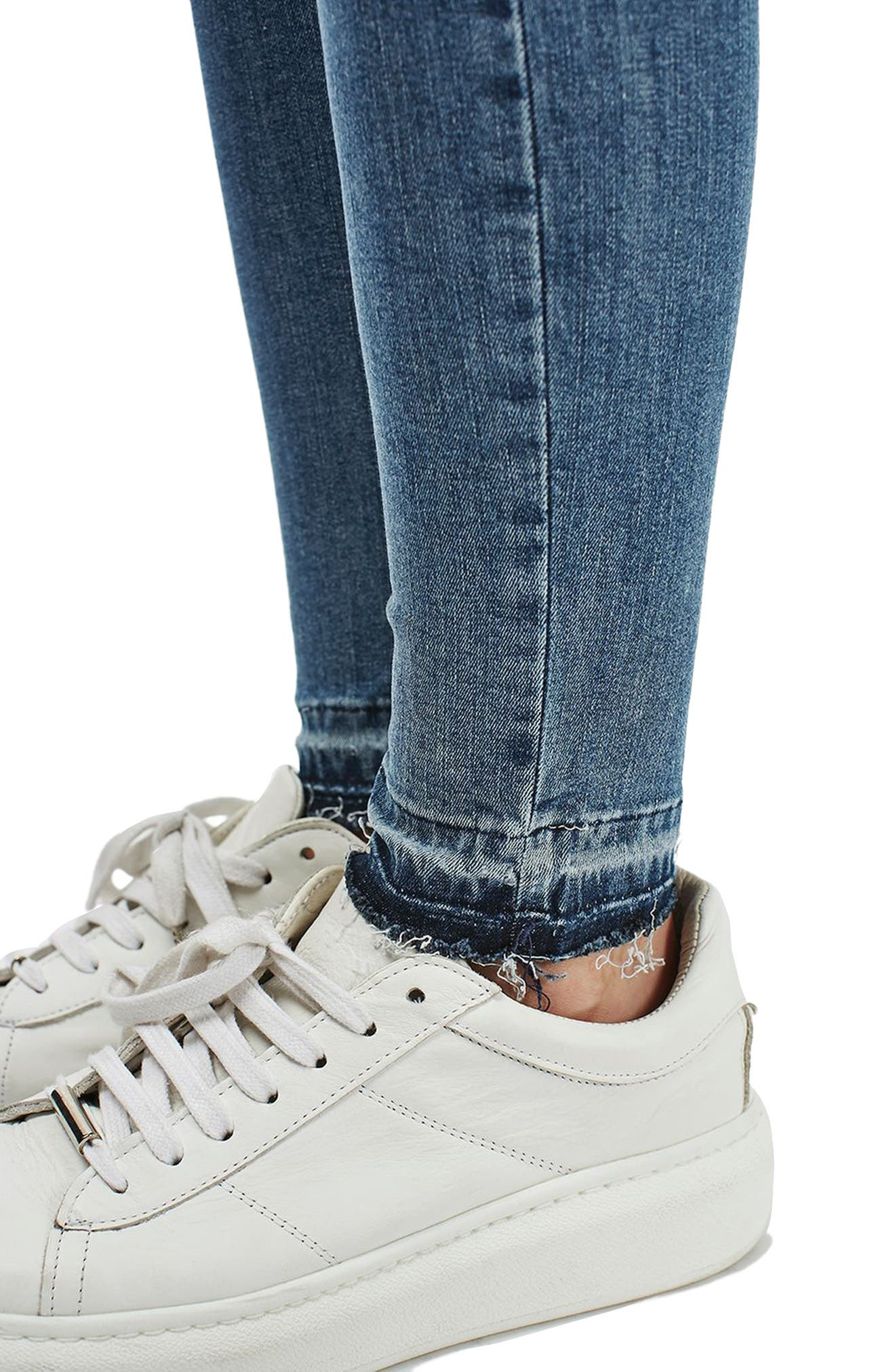Alternate Image 5  - Topshop Jamie High Rise Let Down Hem Jeans (Petite)