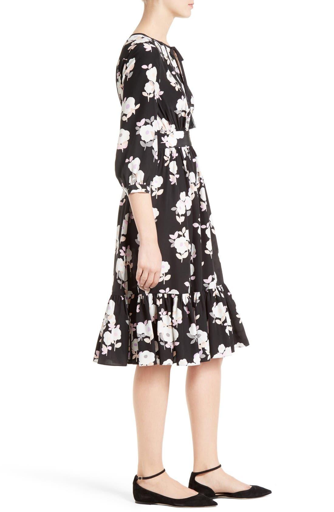 Alternate Image 3  - kate spade new york posy floral silk midi dress