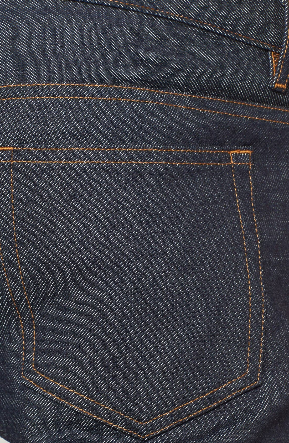 Alternate Image 4  - A.P.C. Petit Standard Slim Fit Selvedge Jeans (Indigo)