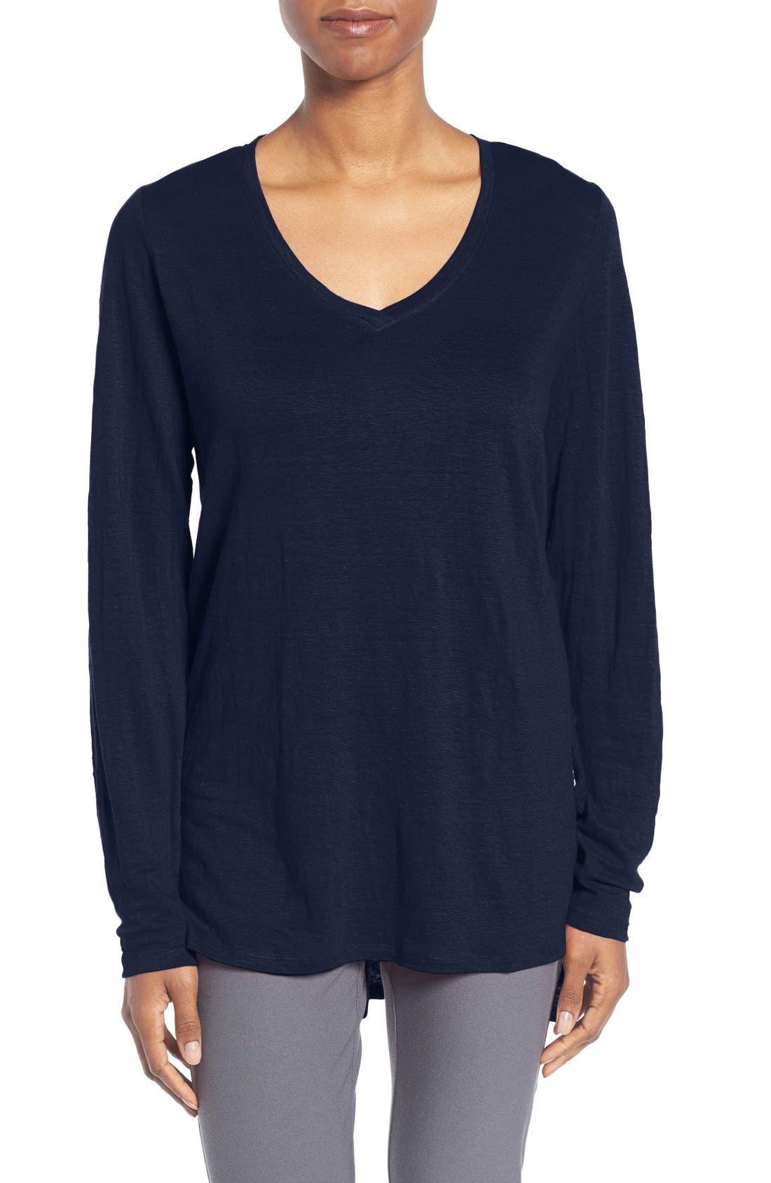 Alternate Image 1 Selected - Eileen Fisher Organic Linen Jersey Tunic