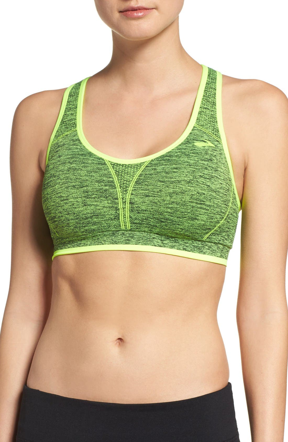 BROOKS Moving Comfort 'Just Right' Seamless Racerback Sports
