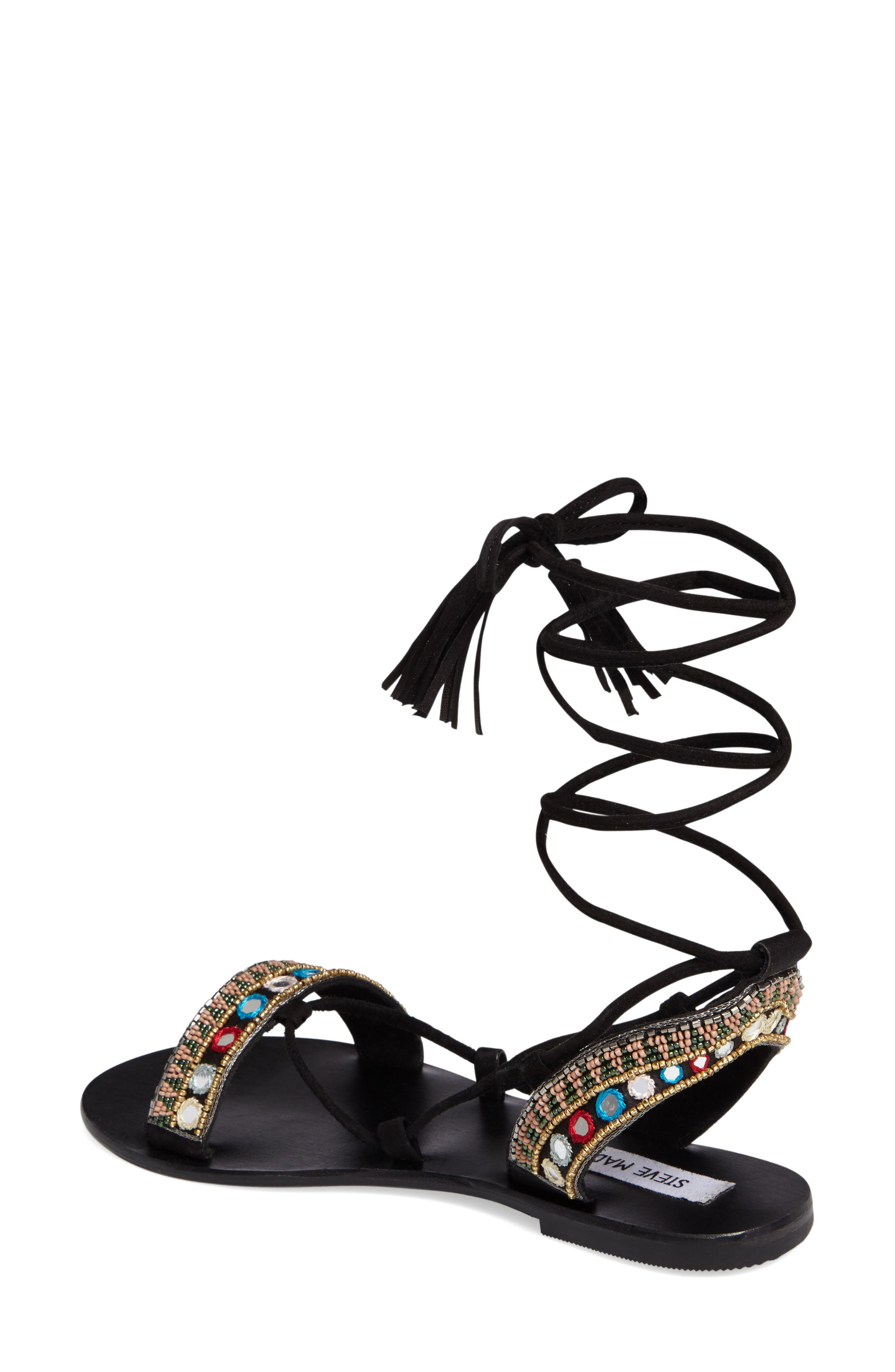 Alternate Image 2  - Steve Madden Orva Embellished Ghillie Wrap Sandal (Women)