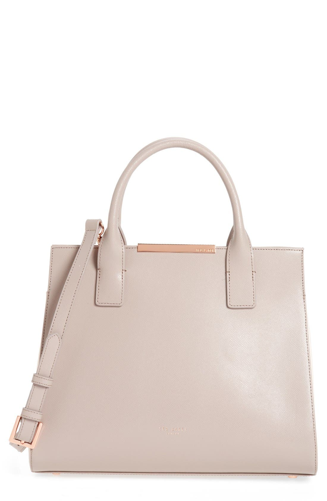 Alternate Image 1 Selected - Ted Baker London Mini Colorblock Leather Tote