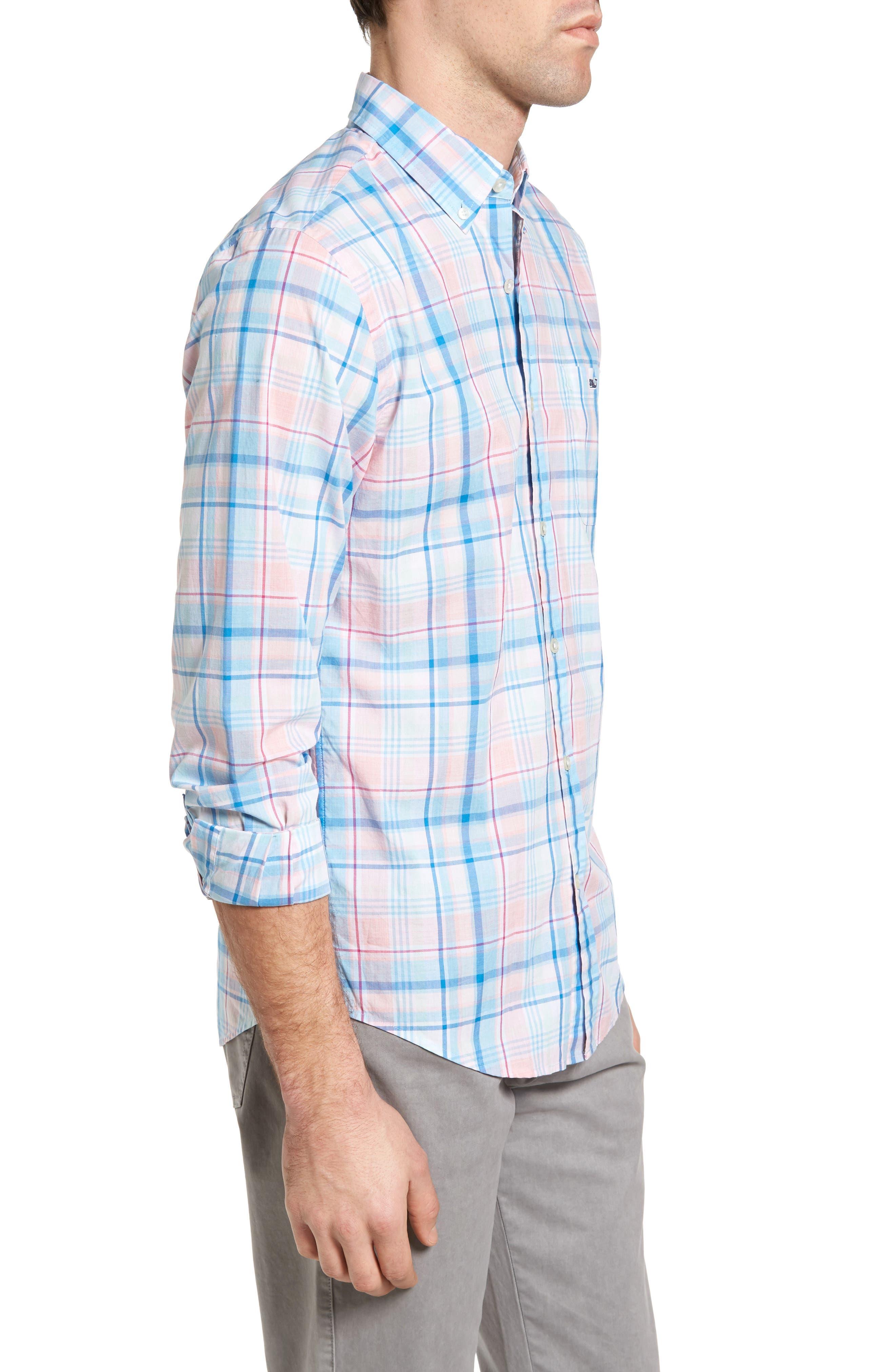 Alternate Image 3  - Vineyard Vines Sabab Rock Tucker Slim Fit Plaid Sport Shirt