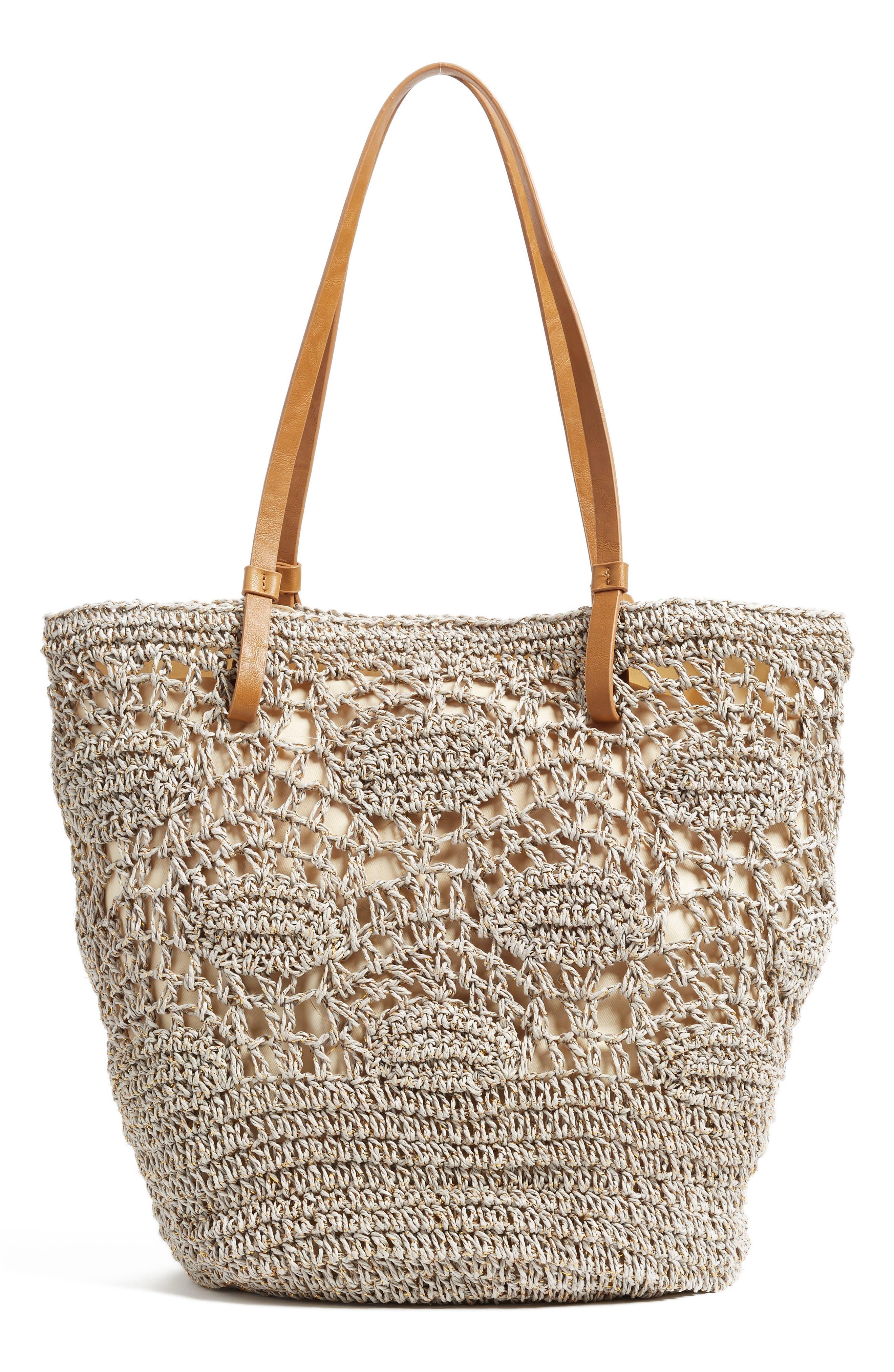Alternate Image 3  - Nordstrom Crochet Straw Tote