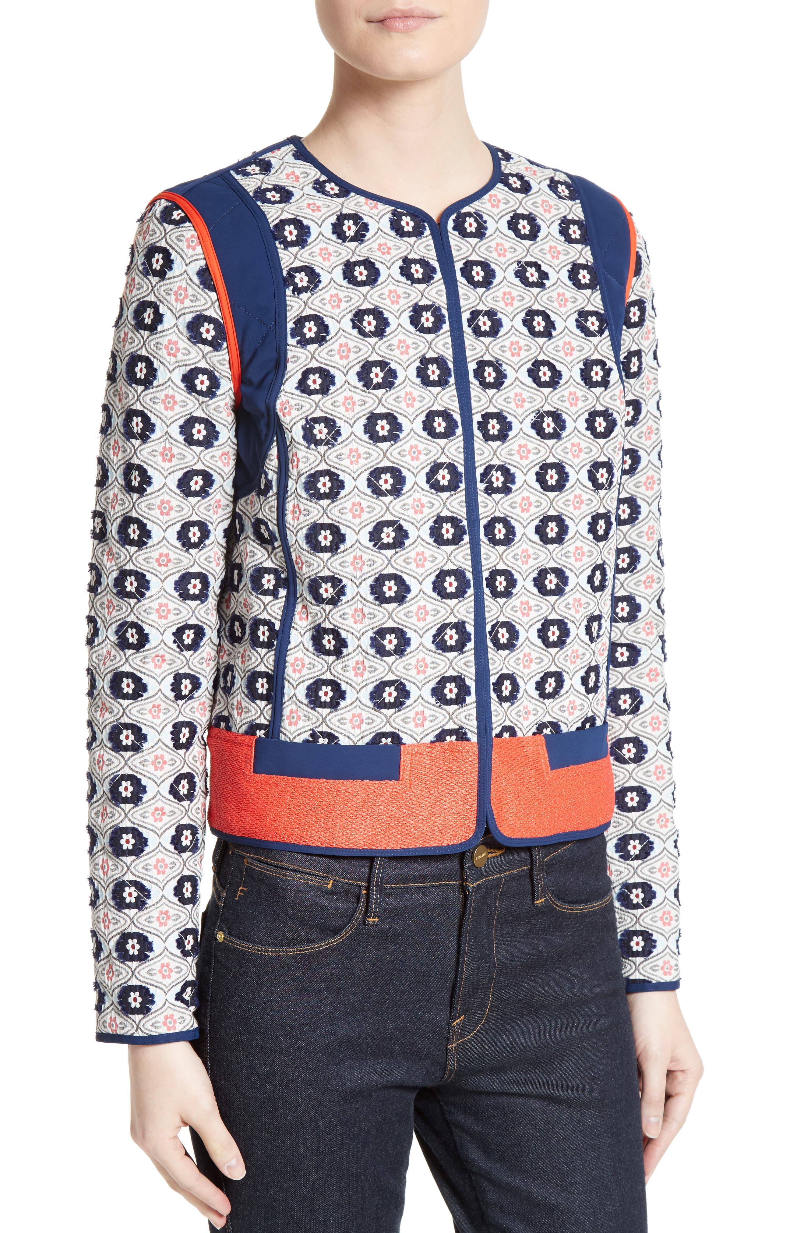 Alternate Image 4  - Tory Burch Rainford Clip Jacquard Quilted Jacket